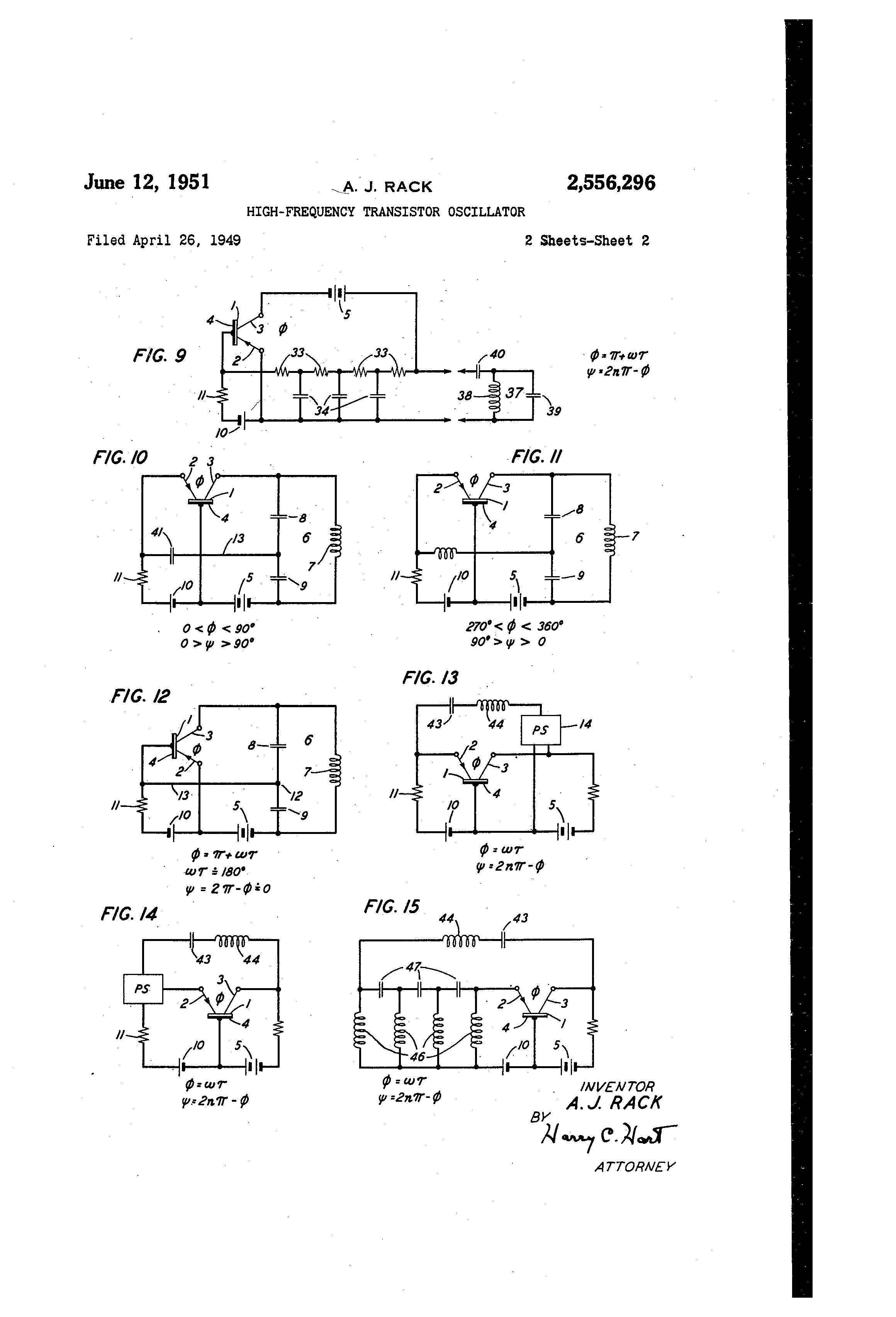 Patent Us2556296 High Frequency Transistor Oscillator Google Patents Circuit Is Placed In The Base To Ground Drawing