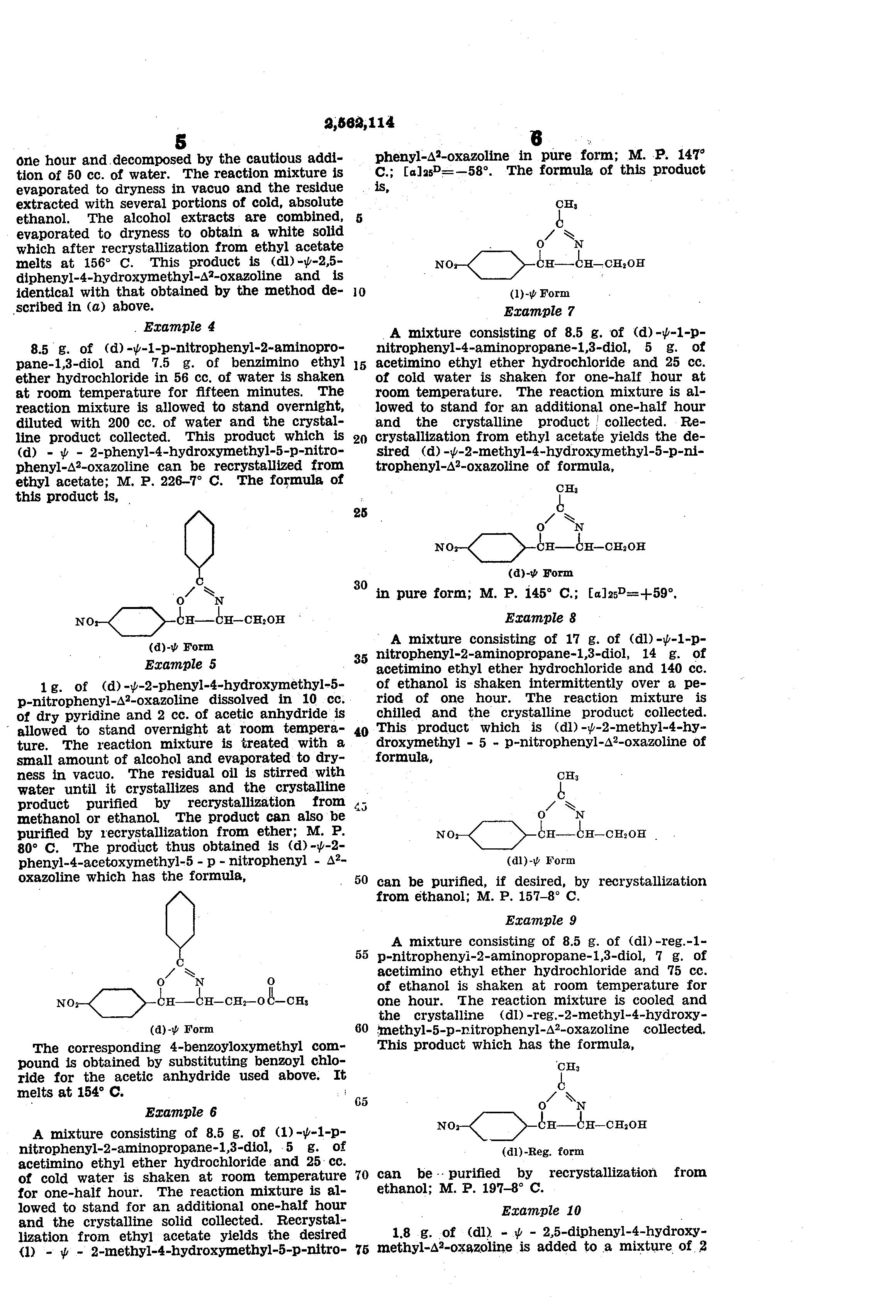 Patent US2562114 - Oxazoiine compounds - Google Patenten