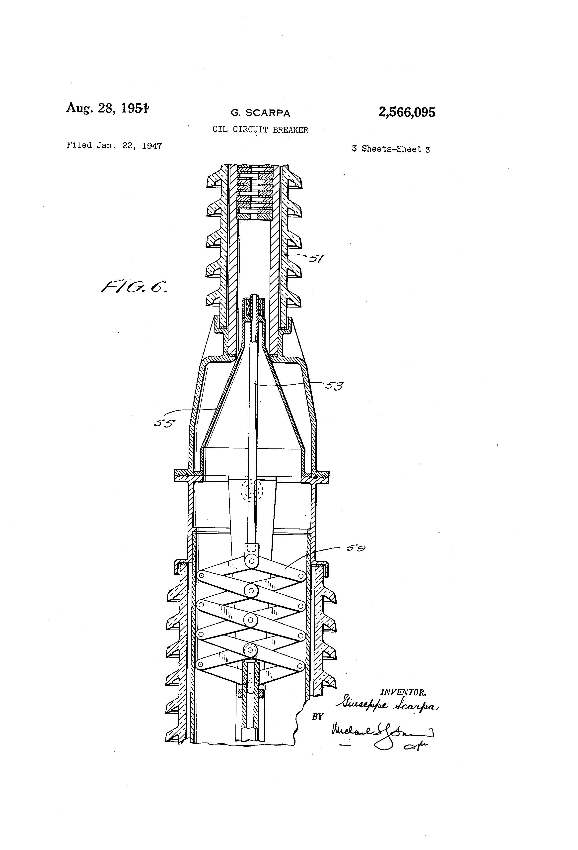 patent us2566095 - oil circuit breaker