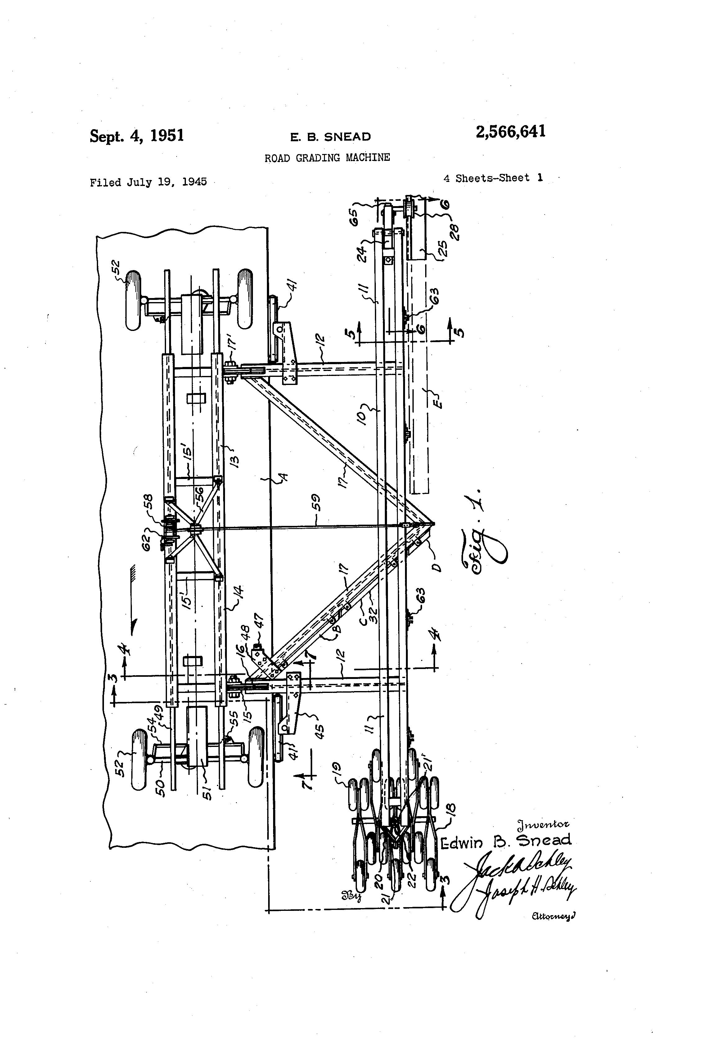 road grading machine