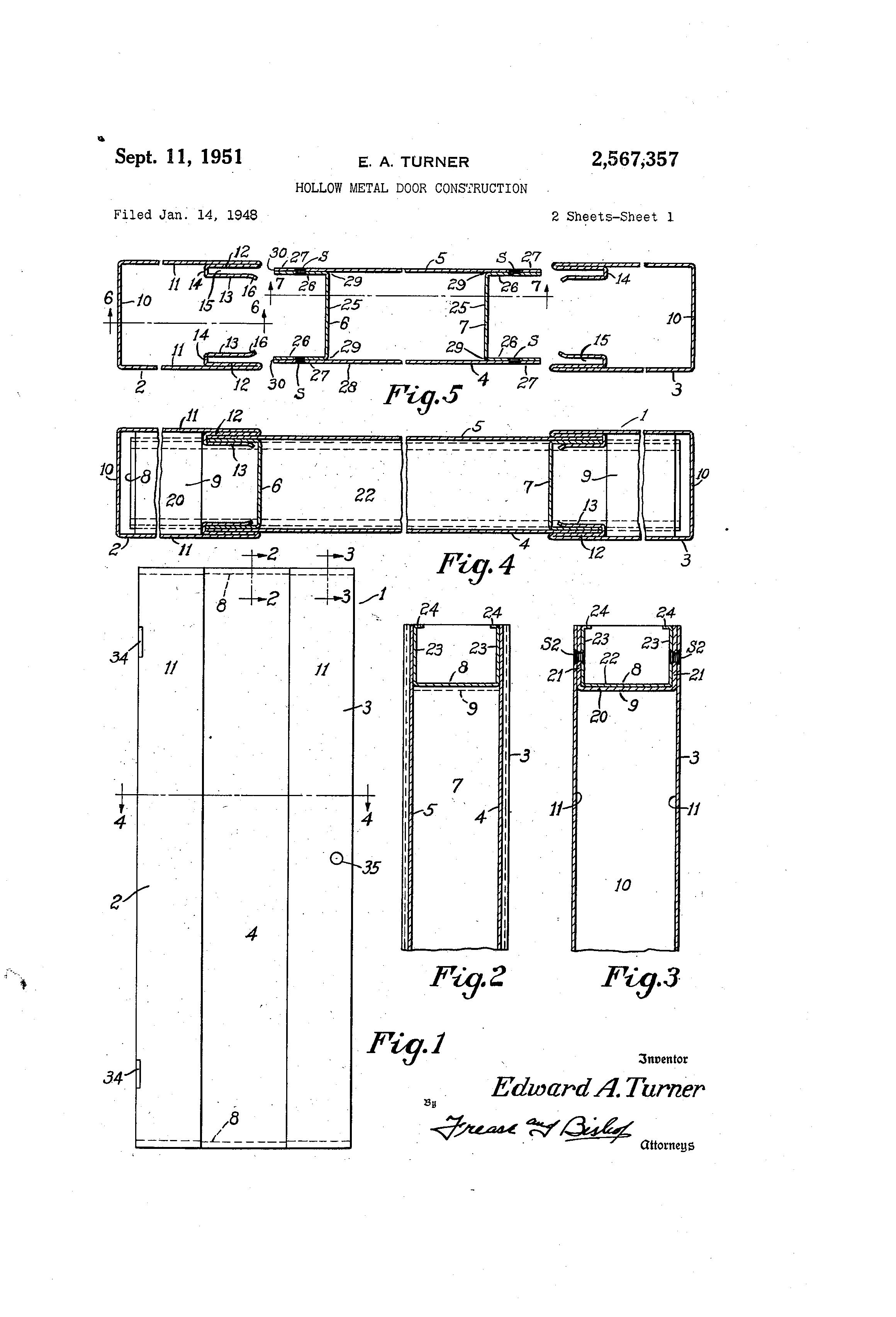 Metal Door Construction : Patent us hollow metal door construction google