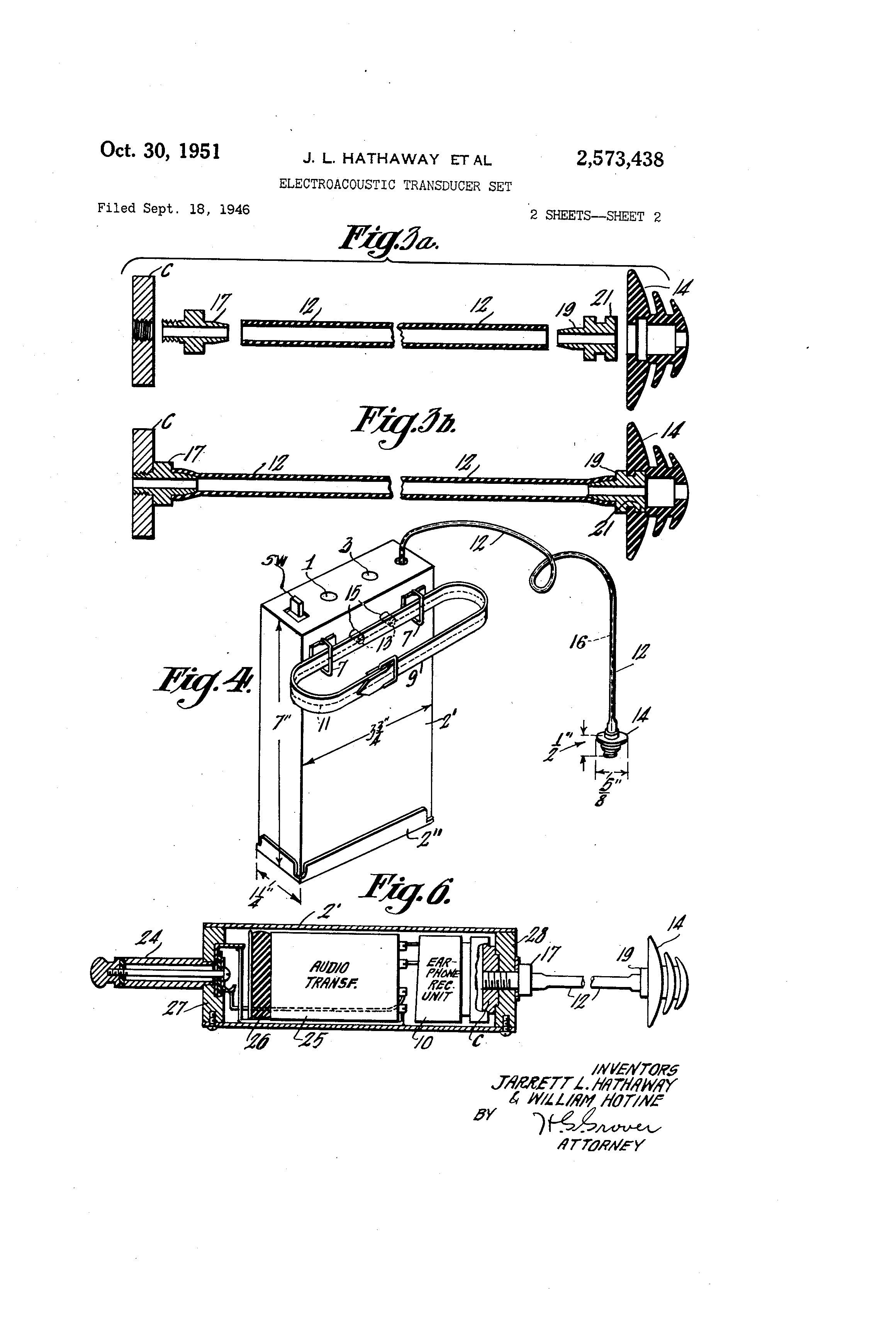 Patent Us2573438 Electroacoustic Transducer Set Google Patents Amplifier Circuit Tubeamplifier Audiocircuit Diagram Drawing