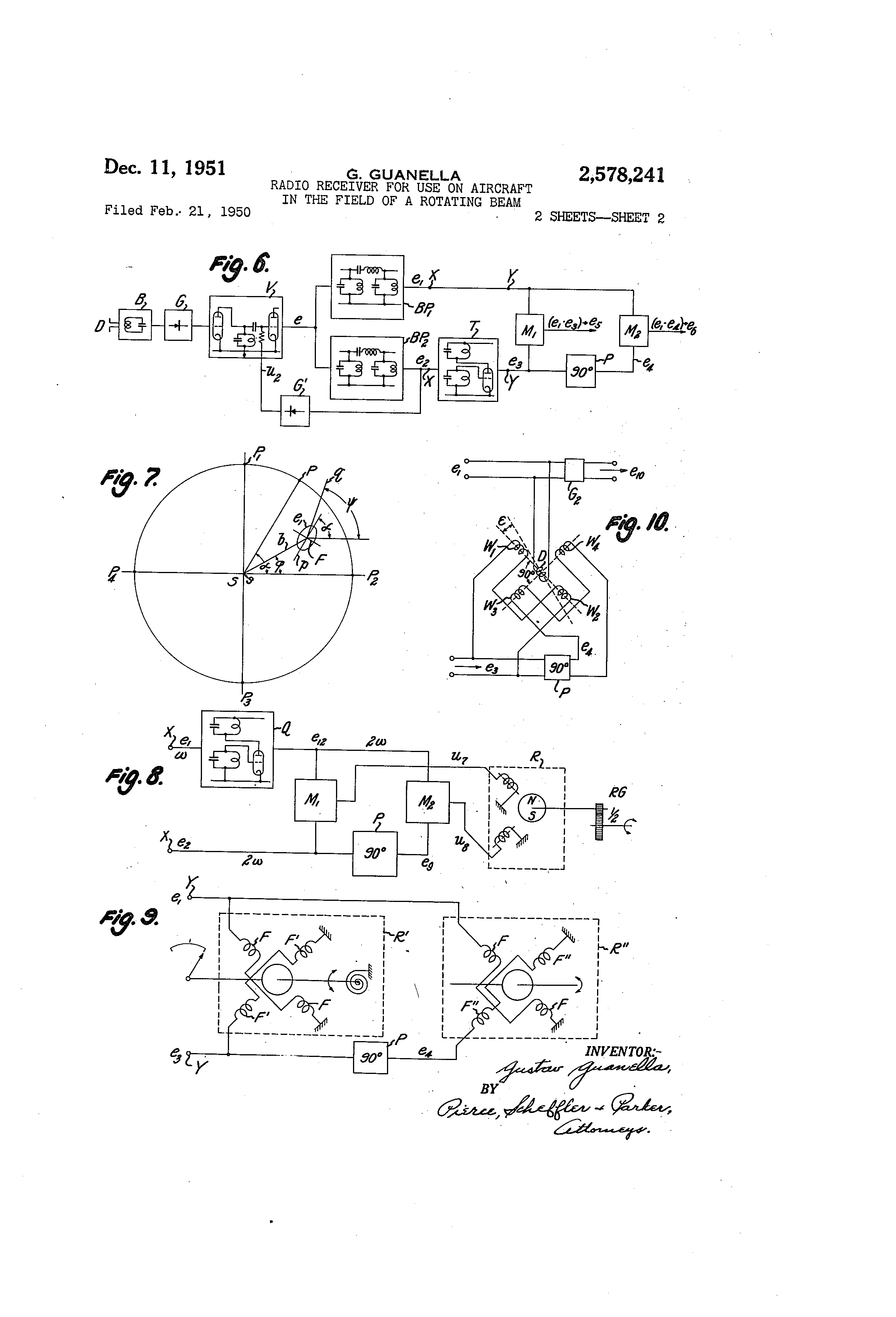 Patent Us2578241 Radio Receiver For Use On Aircraft In The Field Likewise Circuits 5 Tube Schematic Drawing