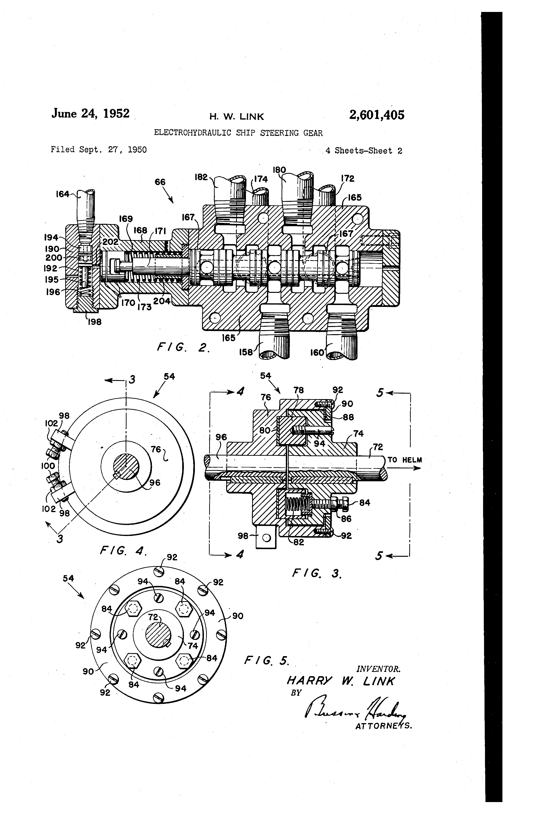 Patent Us2601405 Electrohydraulic Ship Steering Gear Google Patents Bourns Wiring Diagram Drawing