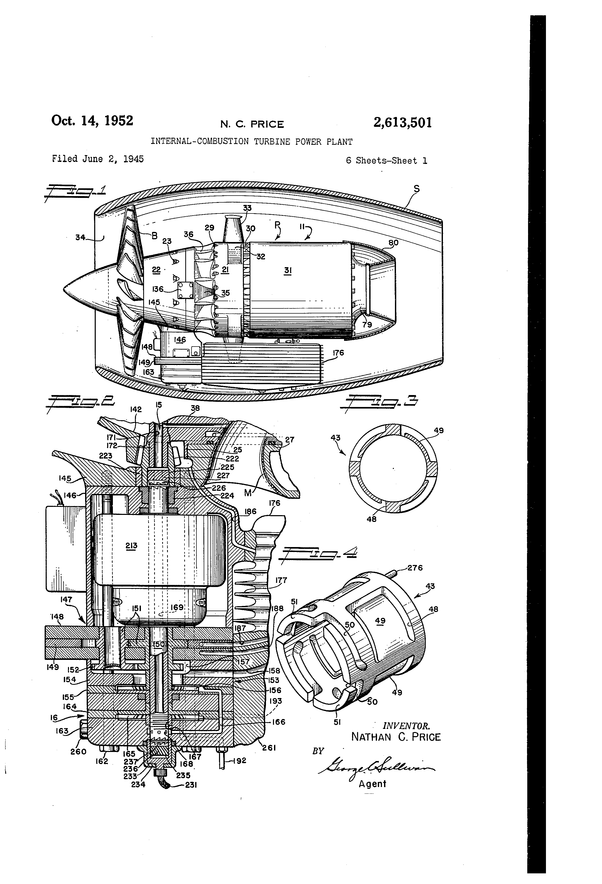 Patent US Internal bustion turbine power plant