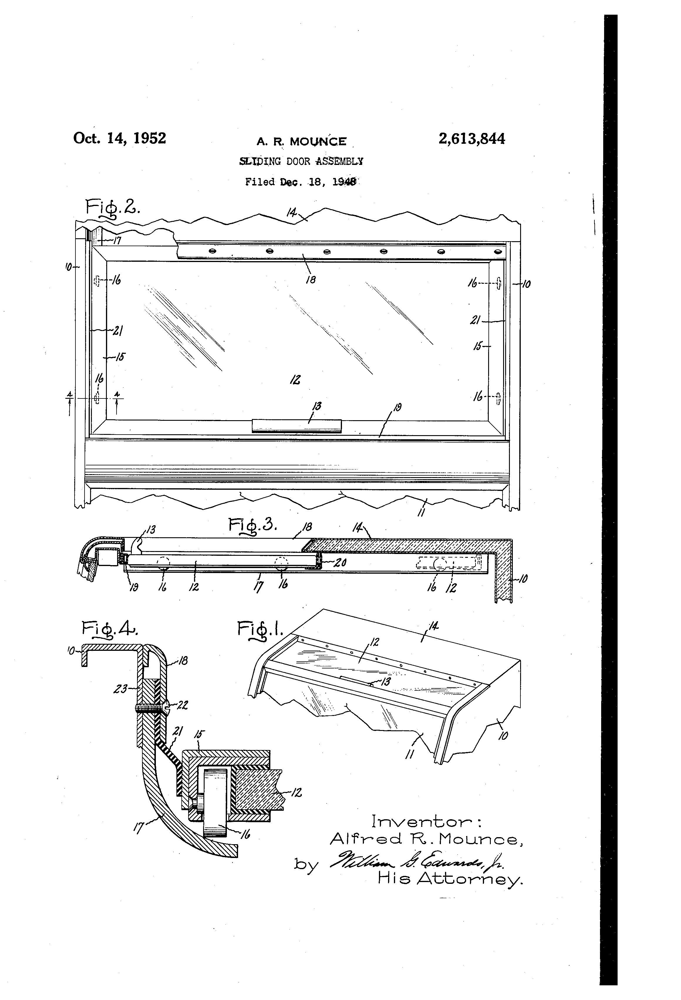 Patent Us2613844 Sliding Door Assembly Google Patents