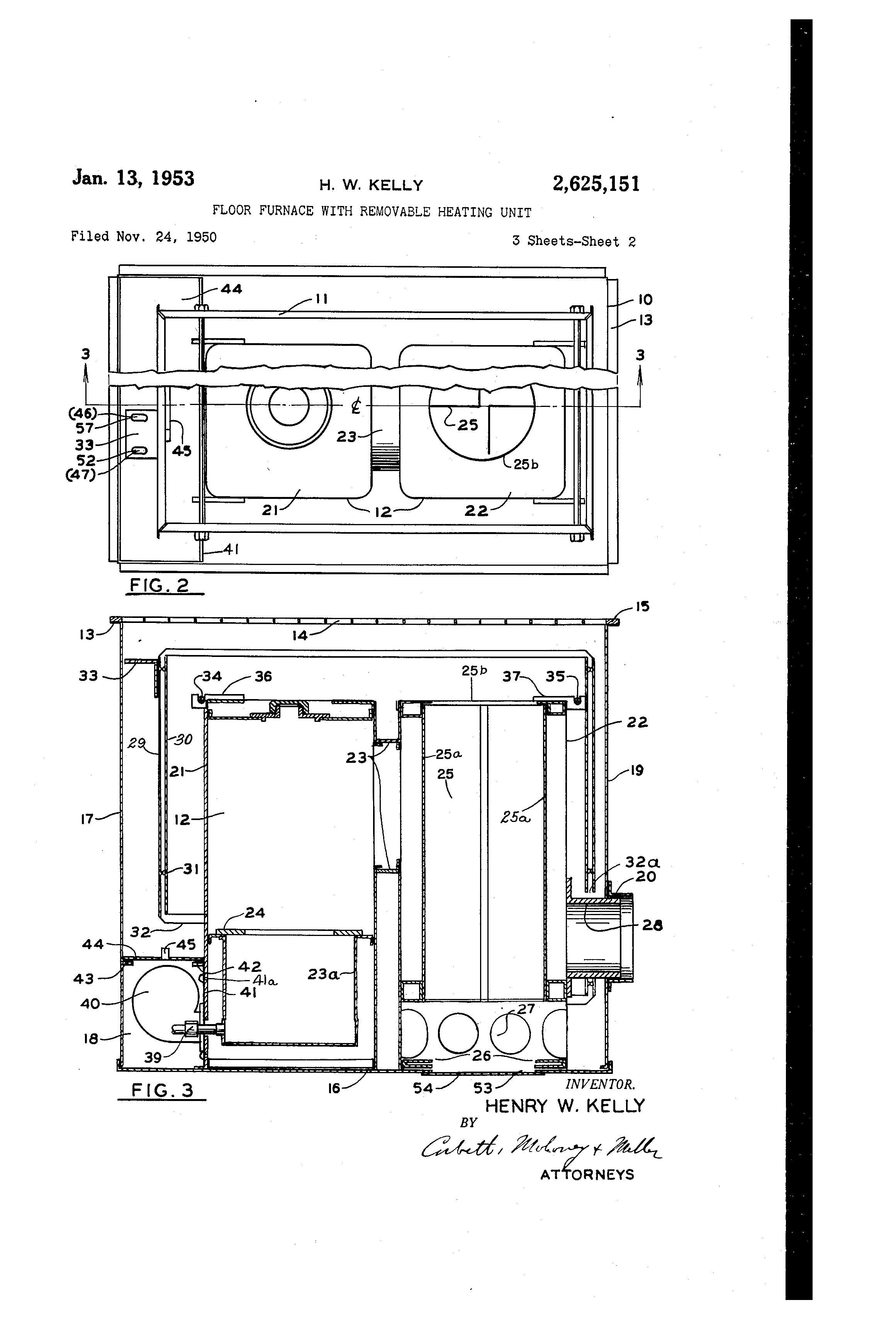 Diagram Of A Floor Furnace Wiring Strategy Design Plan Old Gas Schematic Patent Us2625151 With Removable Heating Unit Rh Google Com Na Brands Heater