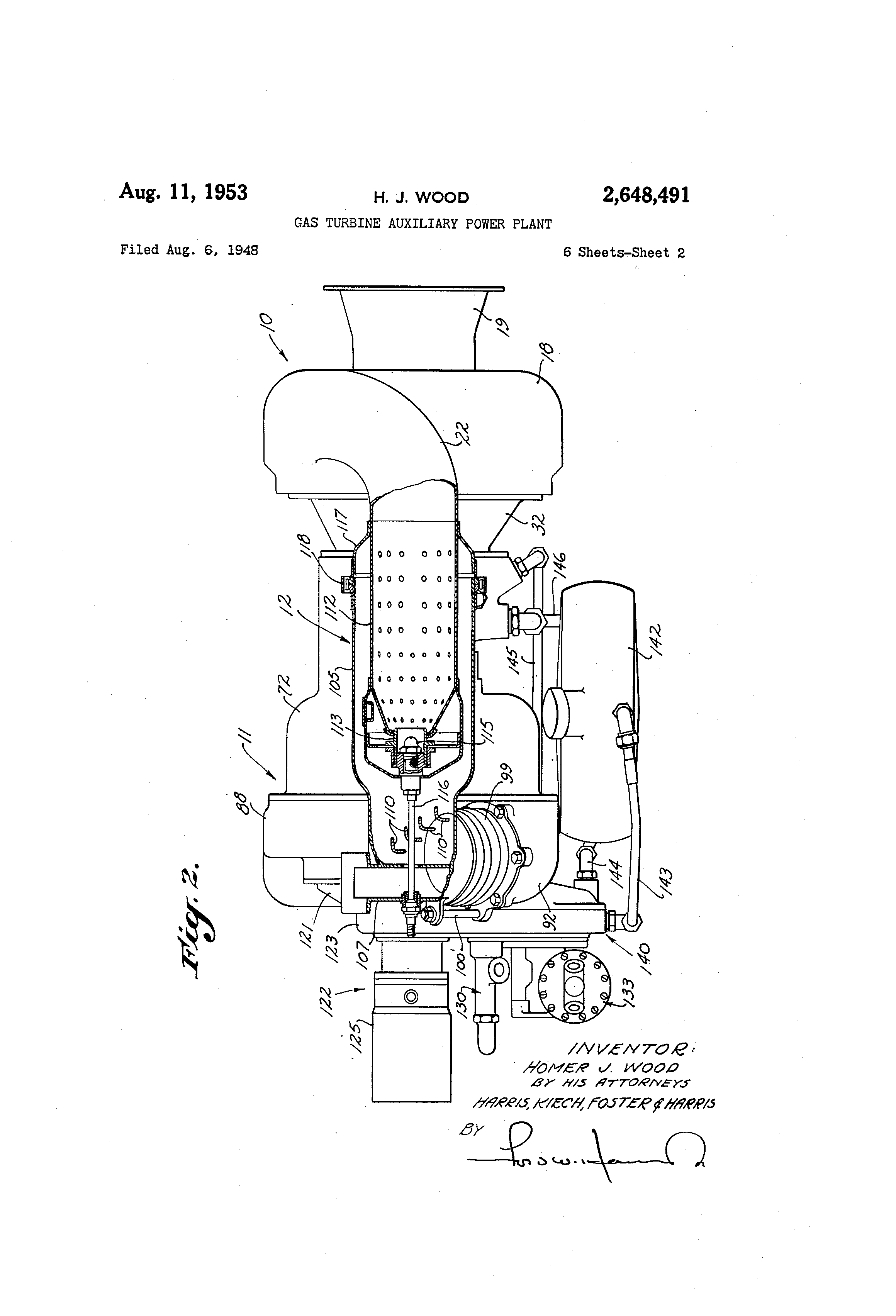 Patent US Gas turbine auxiliary power plant Google Patents