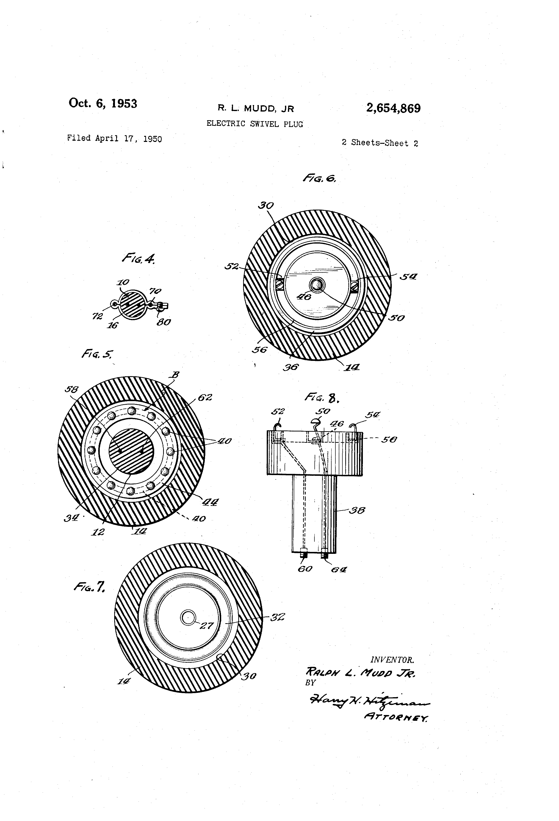 Enclosure For Wiring Devices Google Patents On Wire A Three Way Outlet Patent Us2654869 Electric Swivel Plug
