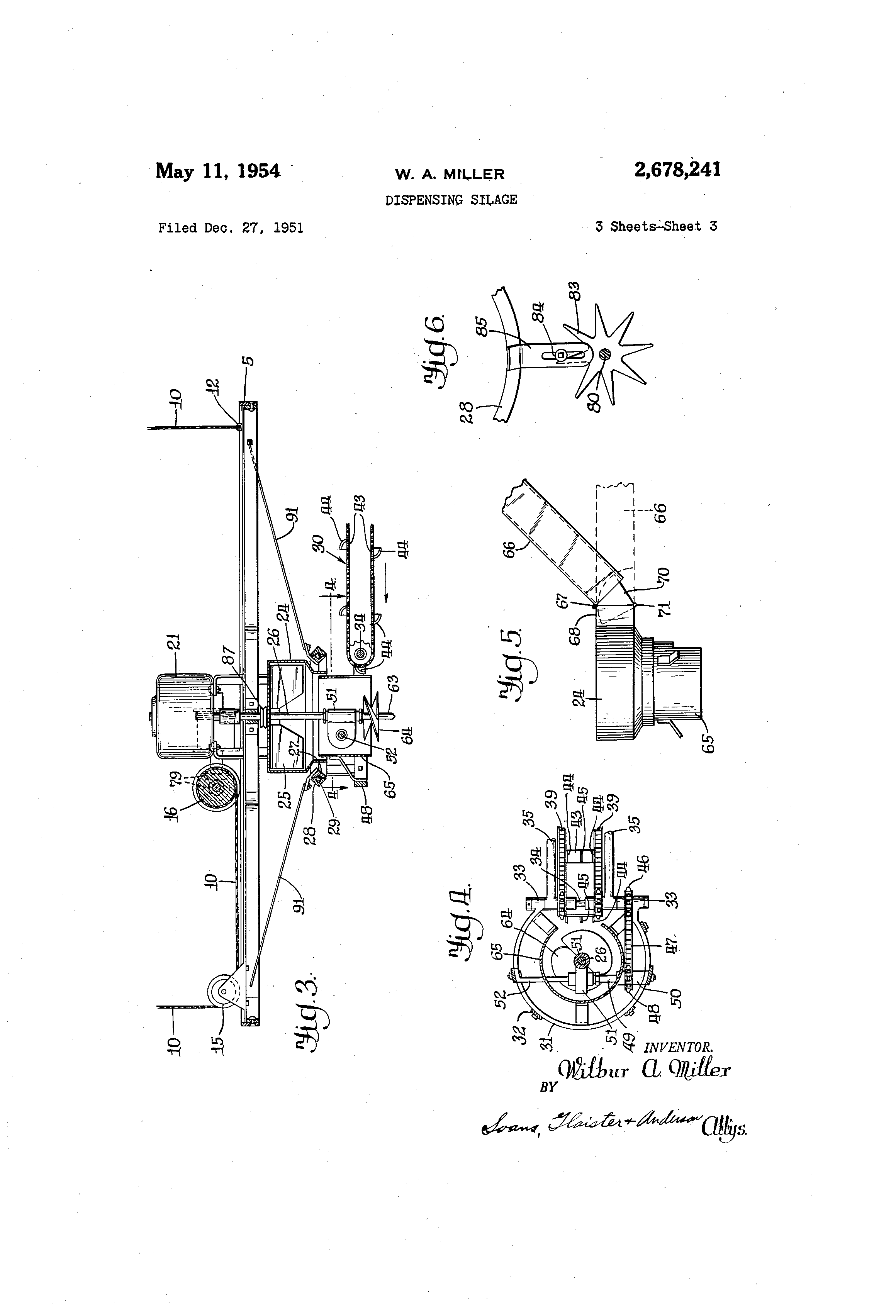 patent us2678241 dispensing silage google patents patent drawing