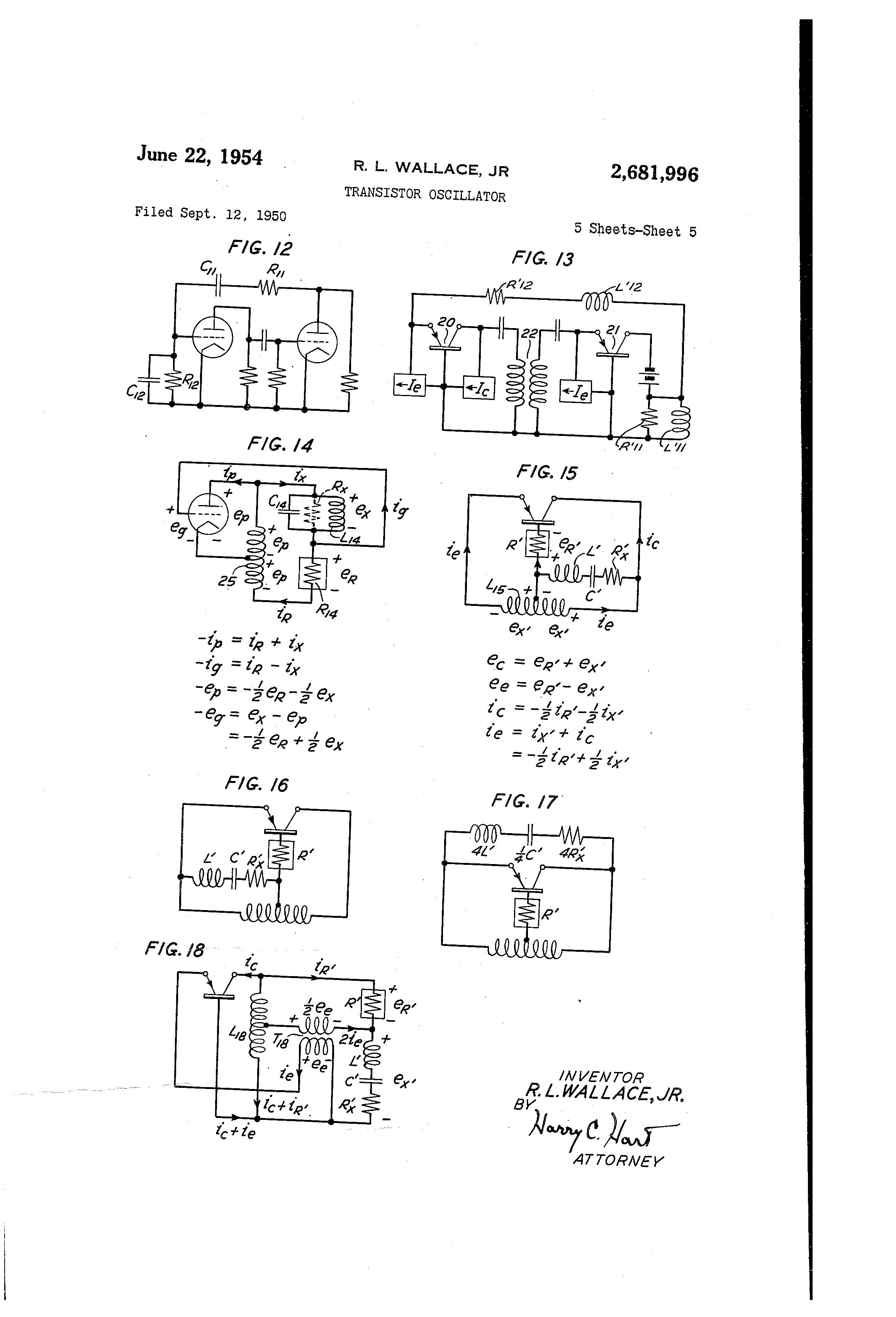 Patent Us2681996 Transistor Oscillator Google Patents Multivibrator Circuit Ideals Simple Crystal Drawing