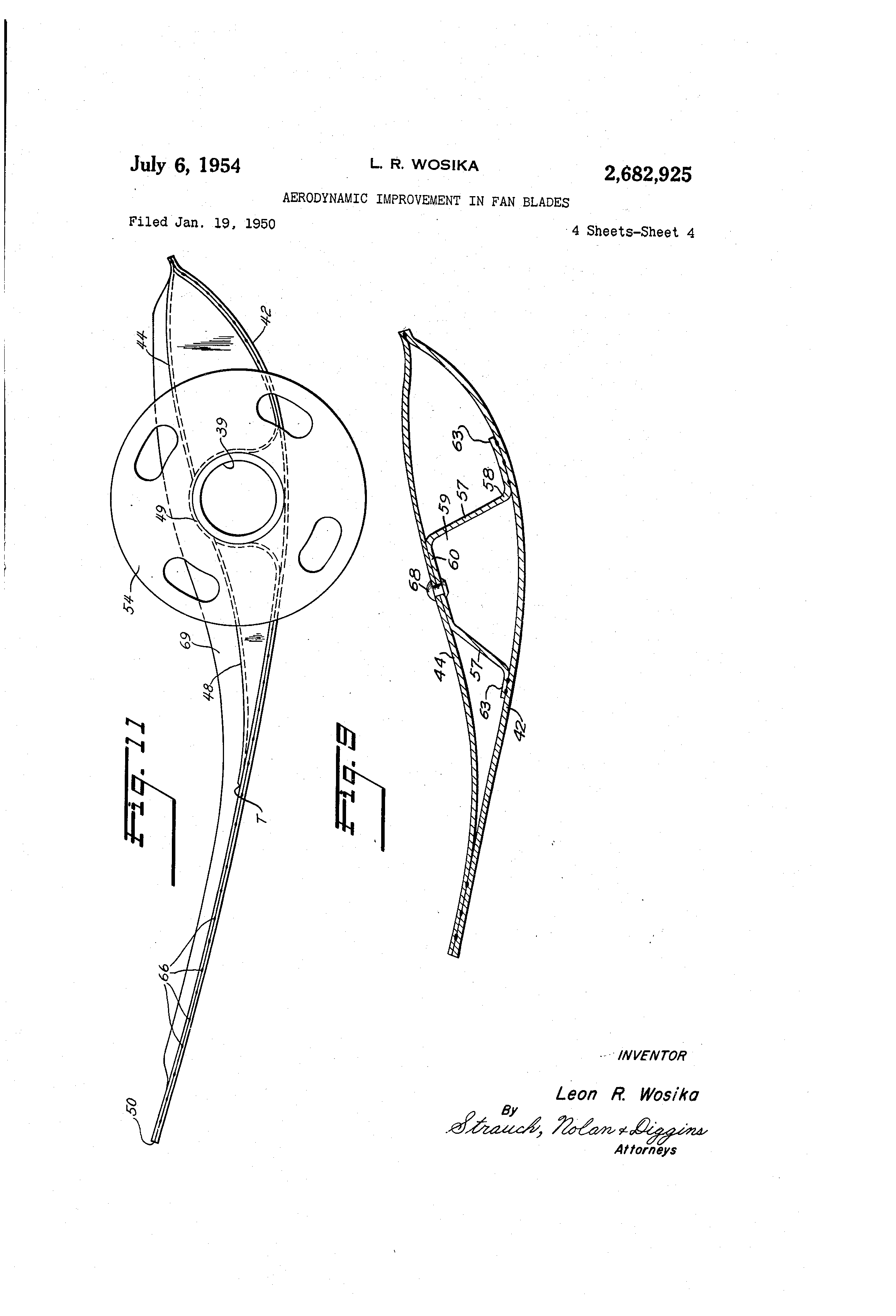 Patent Us2682925 Aerodynamic Improvement In Fan Blades