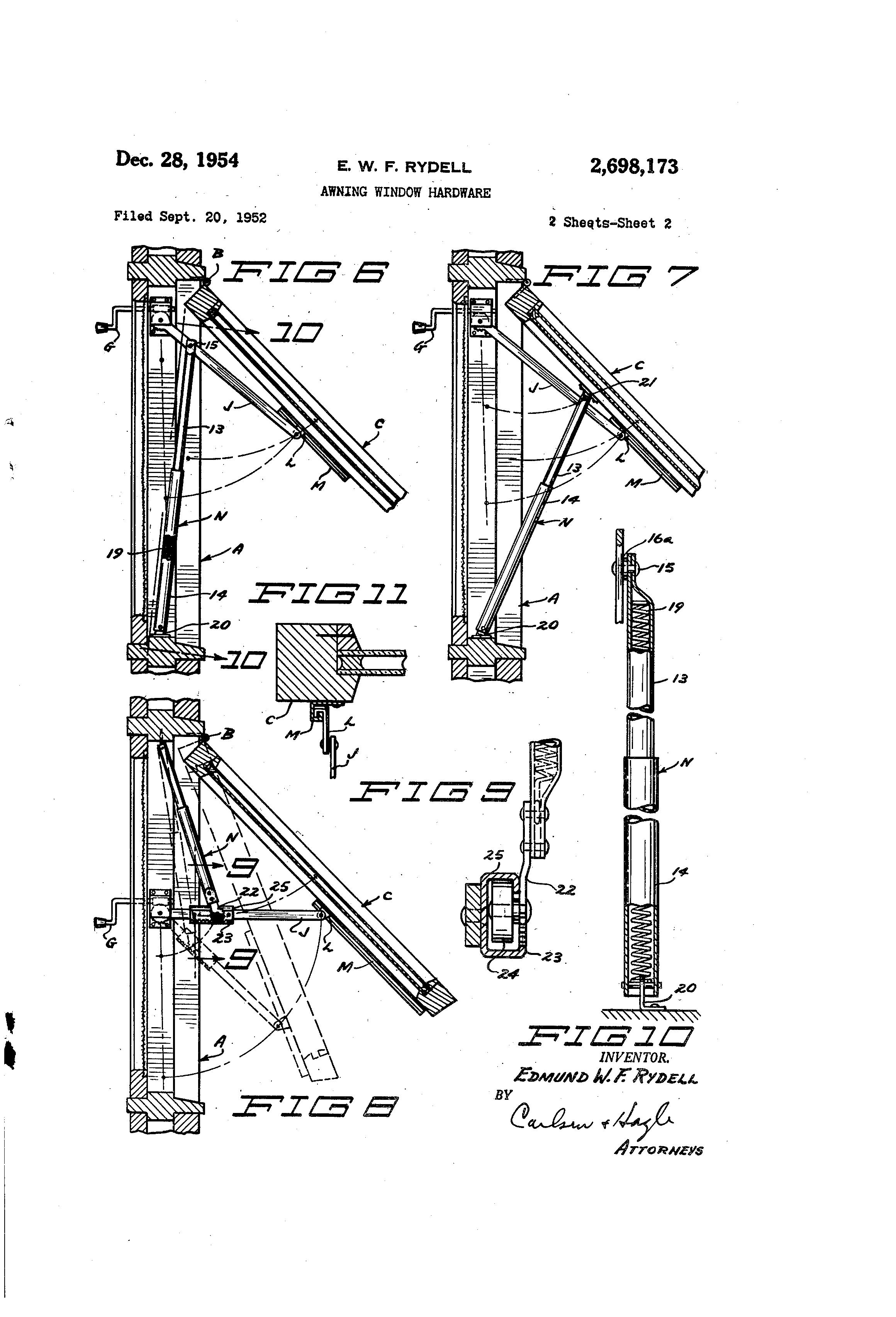 Patent Us2698173 Awning Window Hardware Google Patents