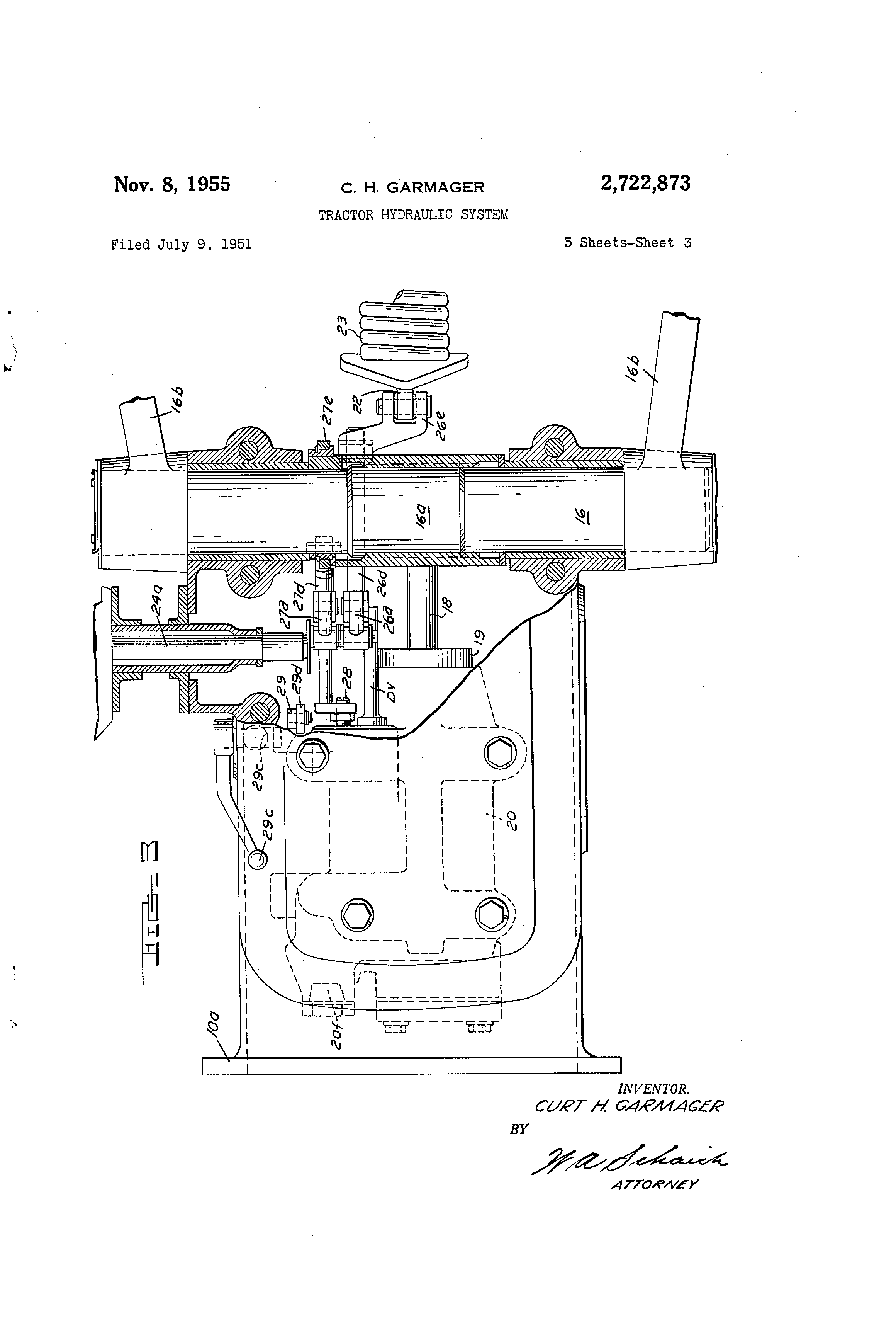 US2722873 on ford 5000 tractor parts diagram