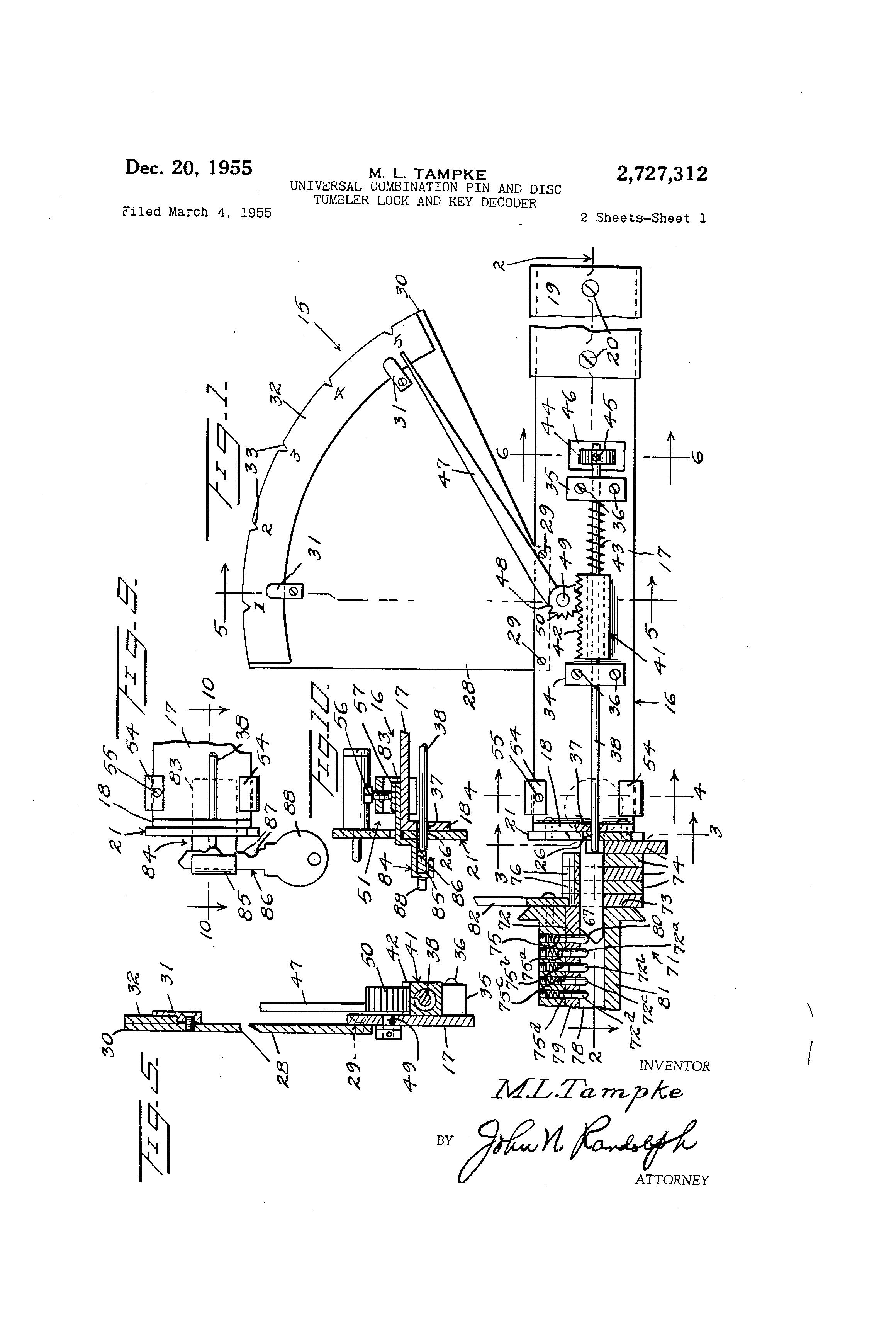 patent us2727312