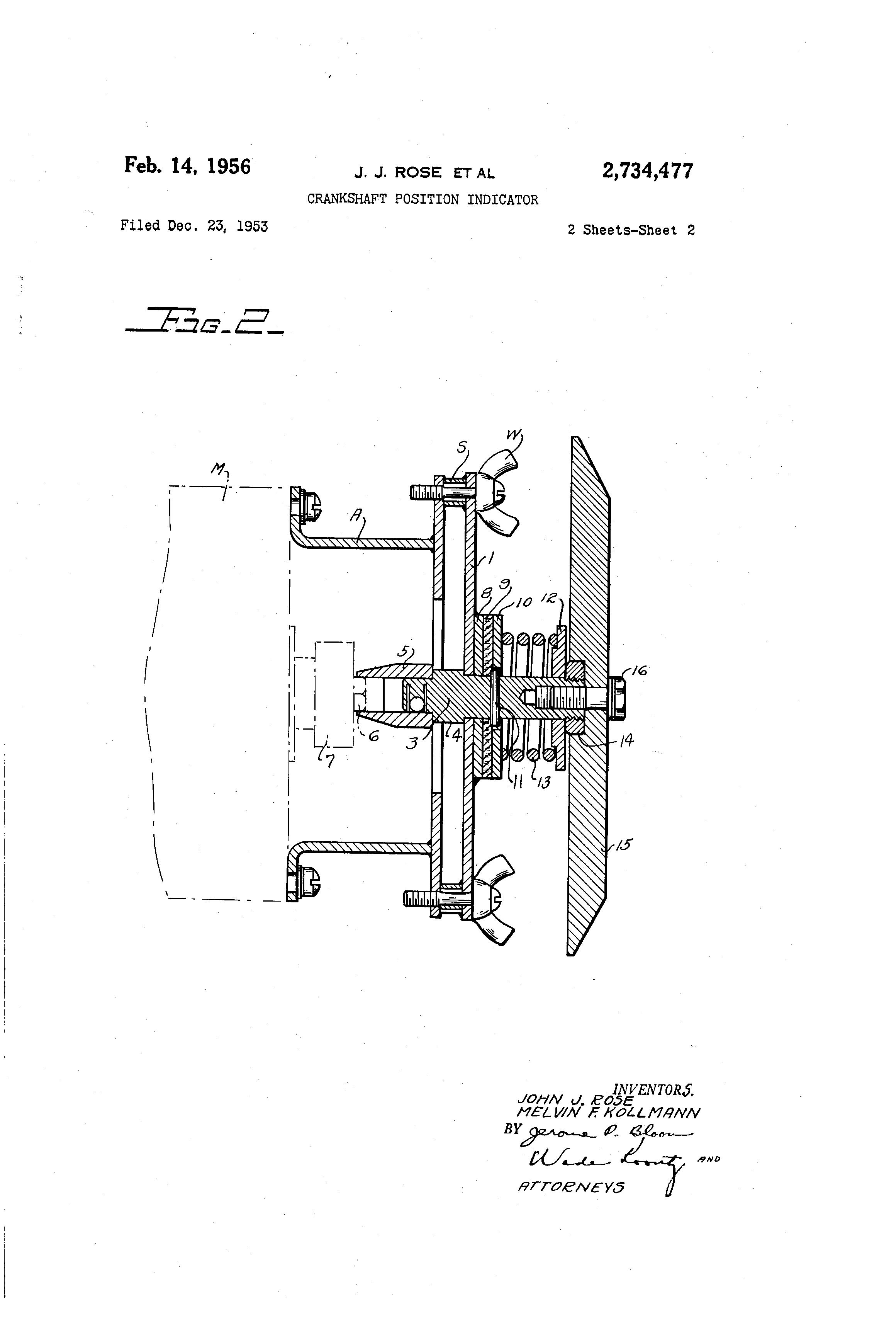 Patent Us2734477 Crankshaft Position Indicator Google Patents L24 Engine Diagram Drawing