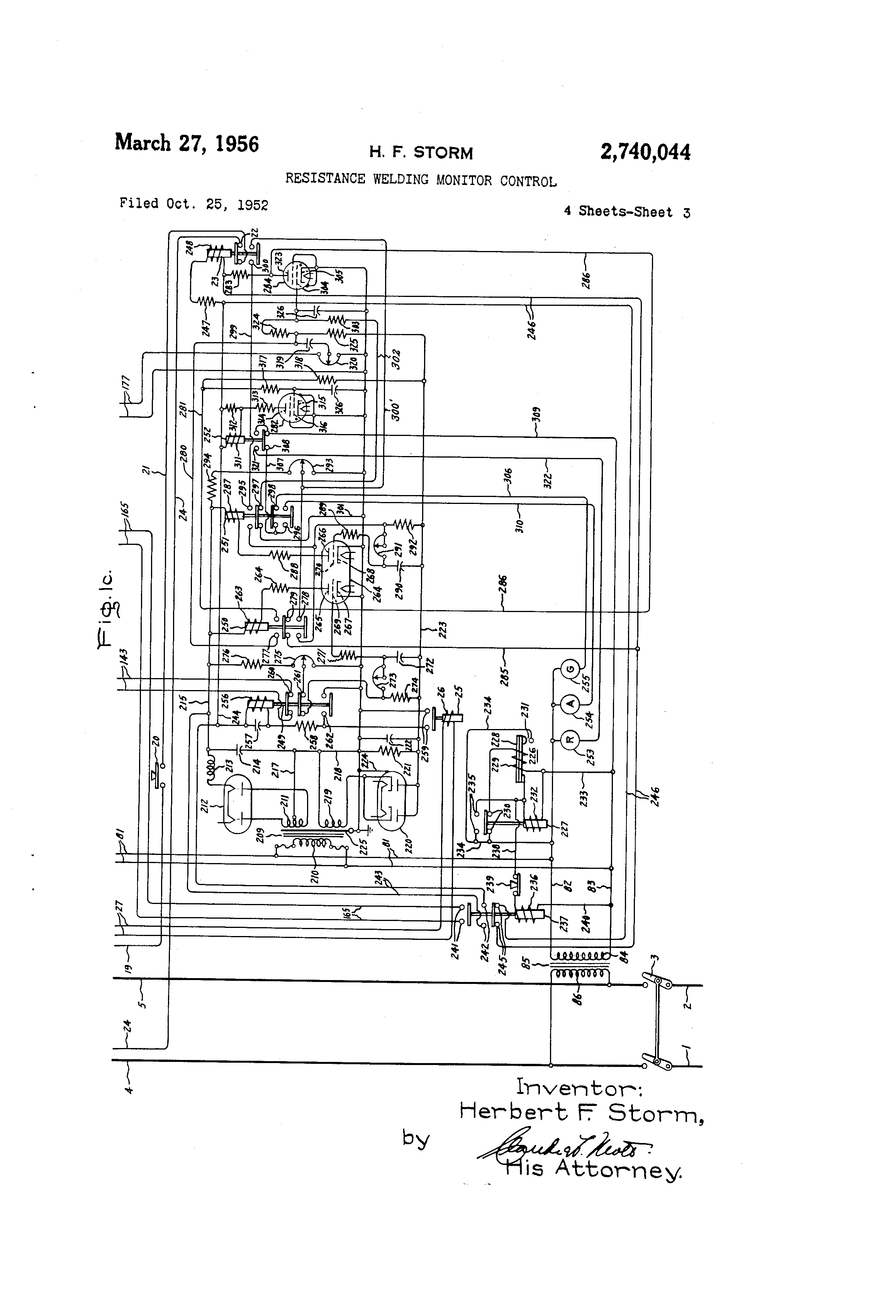 Brevet Us2740044 Resistance Welding Monitor Control Google Brevets Rc Circuitsresistor And Capacitor In Series Patent Drawing