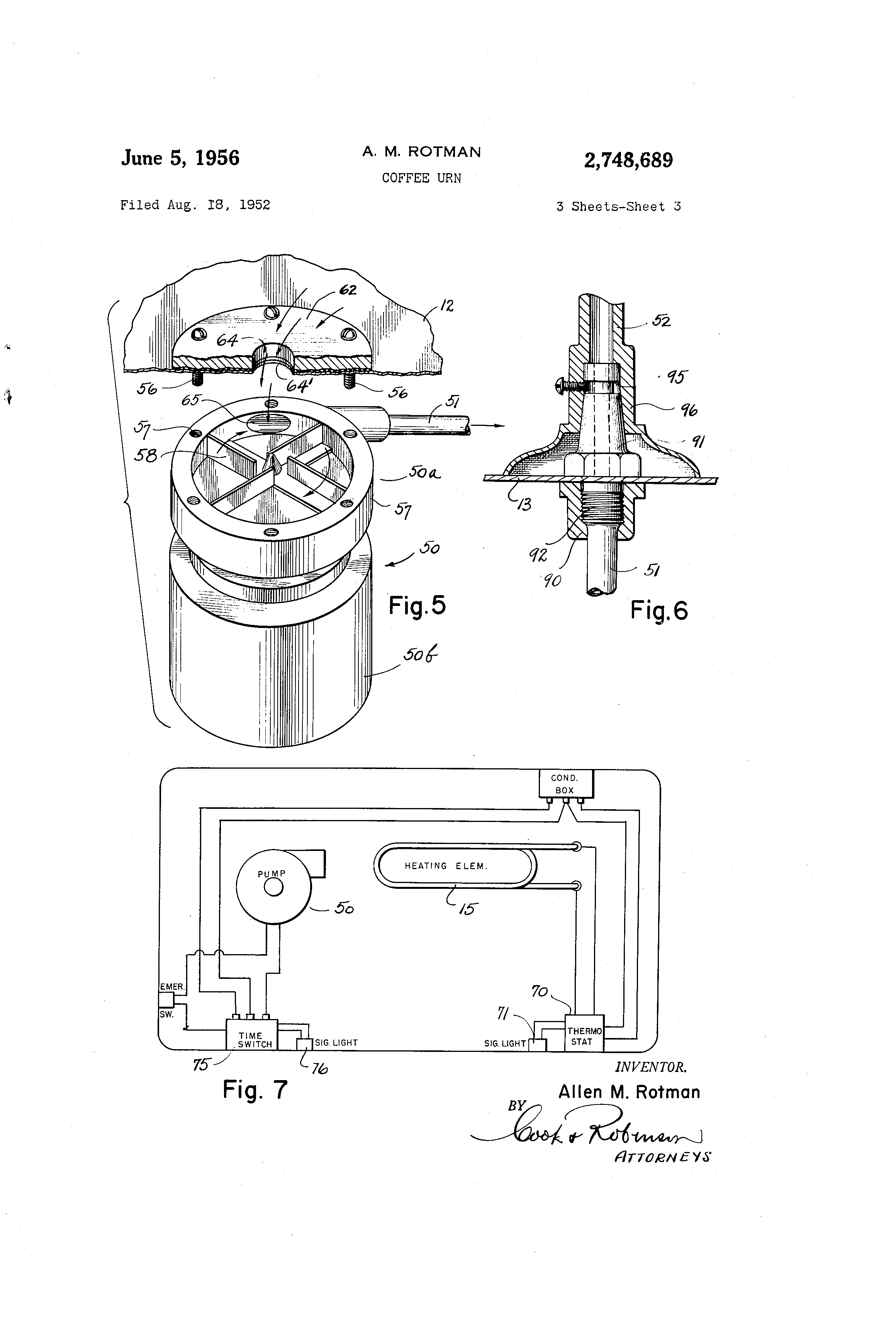 patent us2748689 - coffee urn
