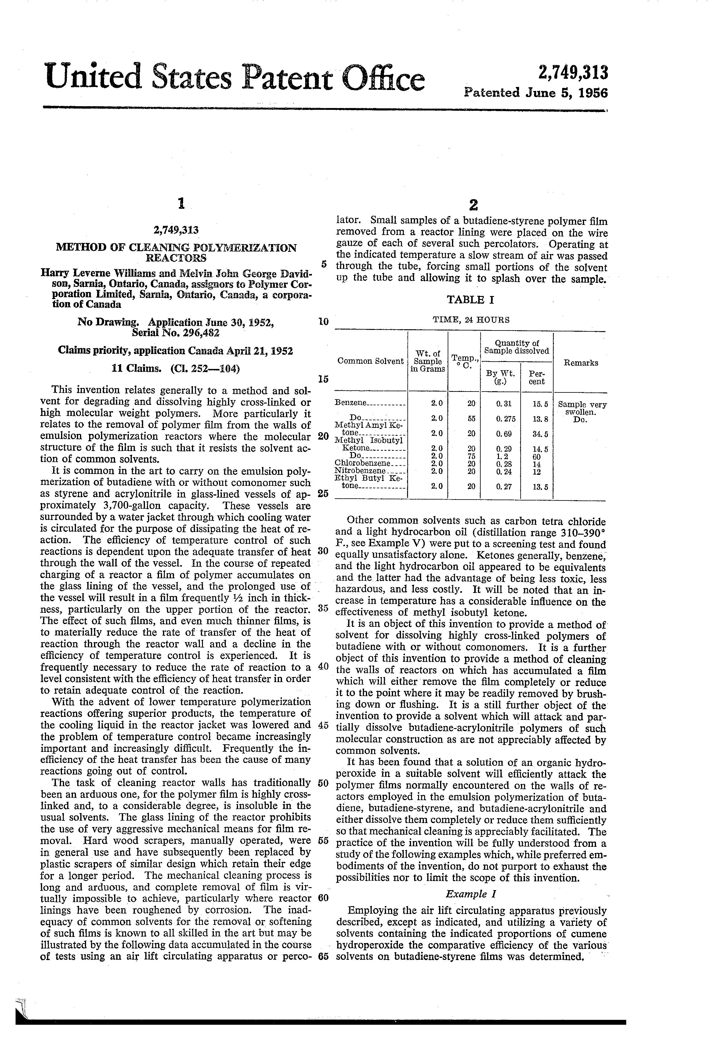 canadian patent application publication date