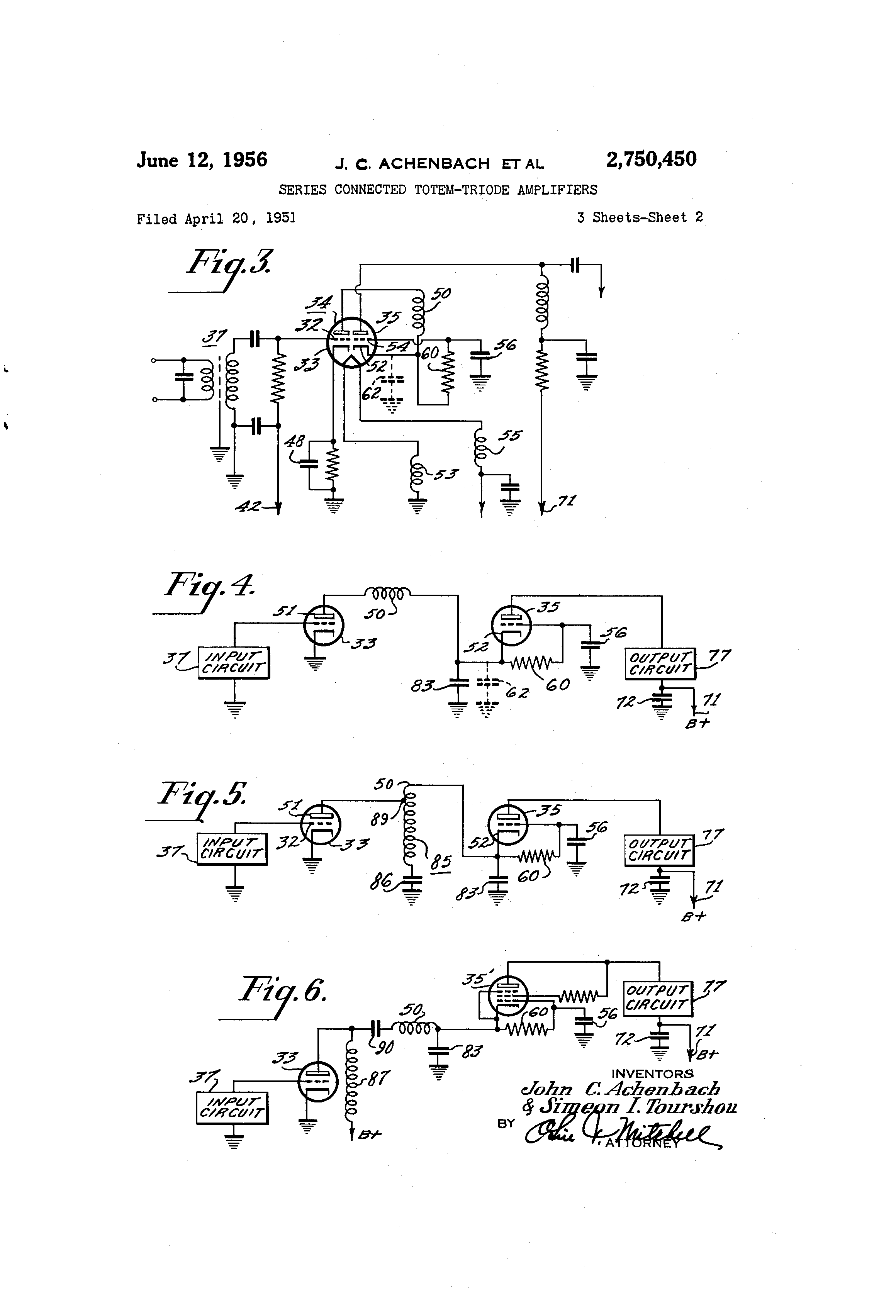 Brevet Us2750450 Series Connected Totem Triode Amplifiers Google Shunt Pair Wideband Amplifier Brevets