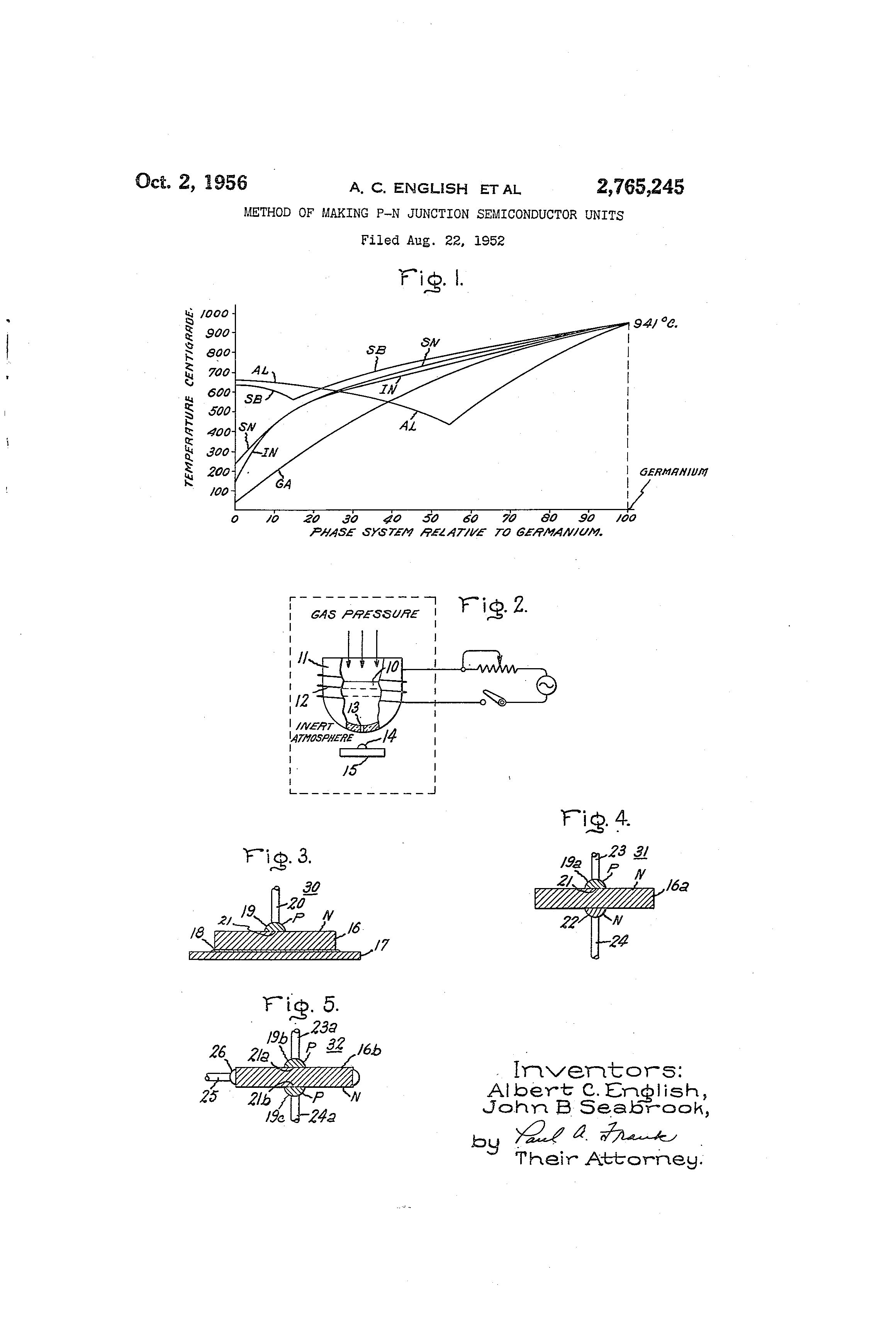 Patent Us2765245 Method Of Making P N Junction Semiconductor Units Understanding The Pn Drawing