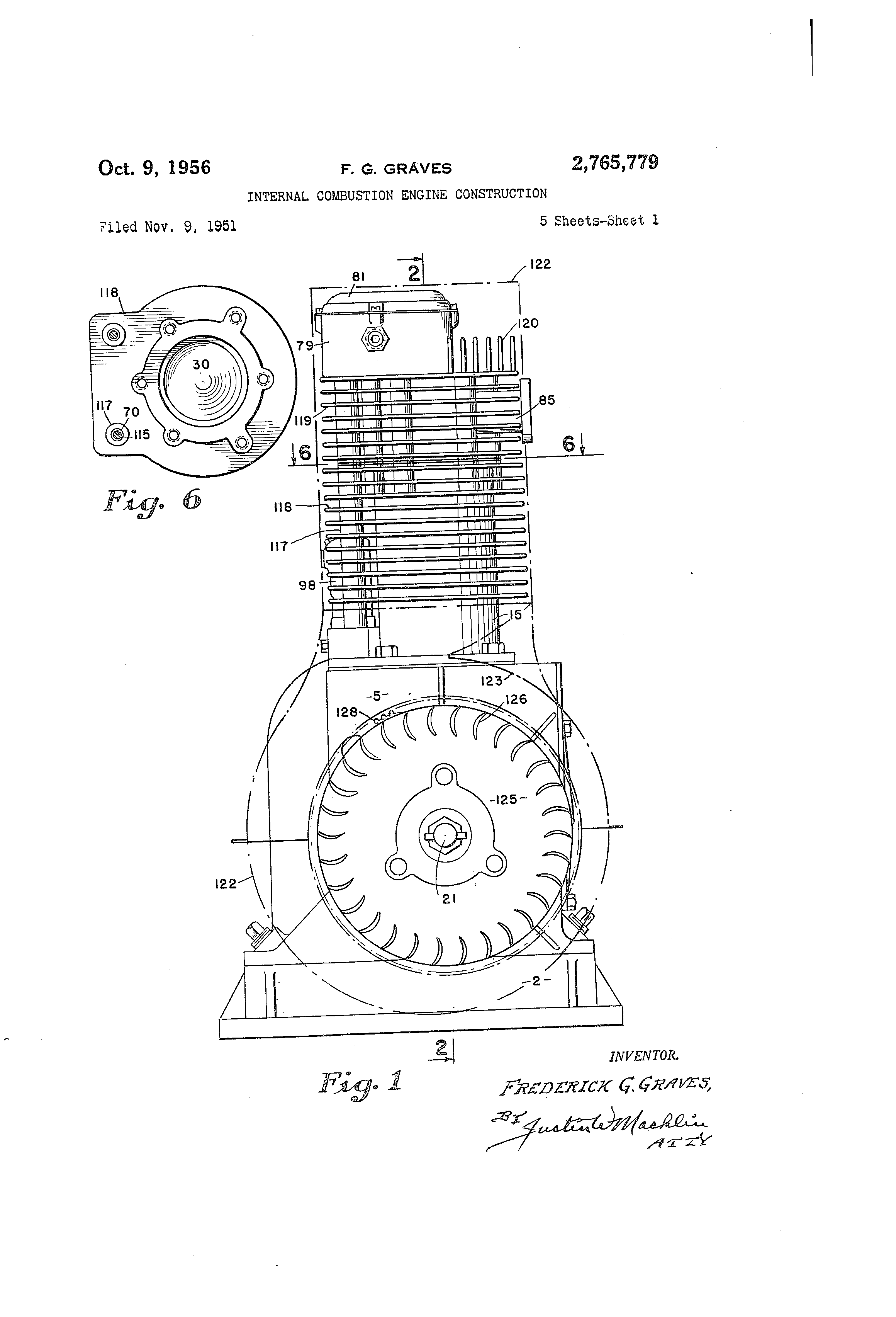 Patent Us2765779 Internal Combustion Engine Construction Google F 117 Diagram Drawing