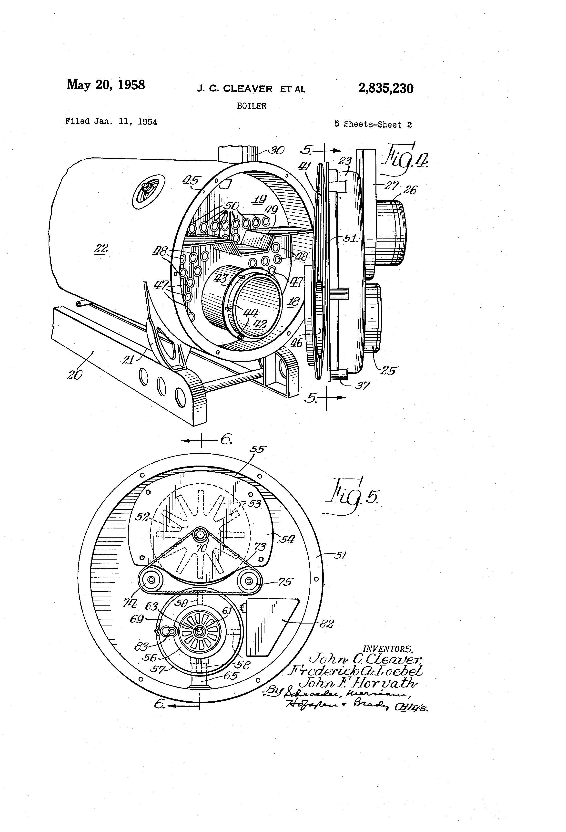 patent us2835230 - boiler