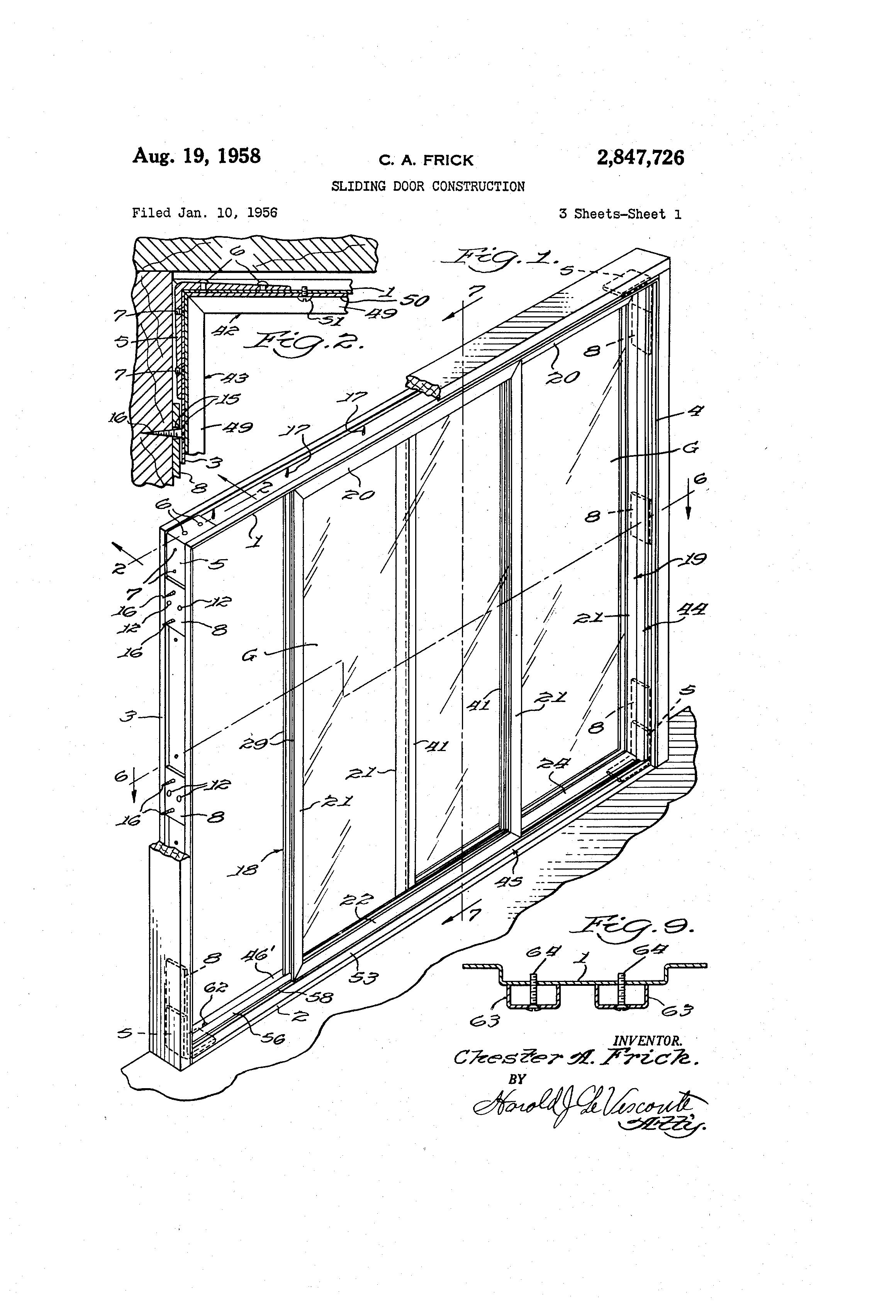 Sliding Window Construction : Patent us sliding door construction google patents