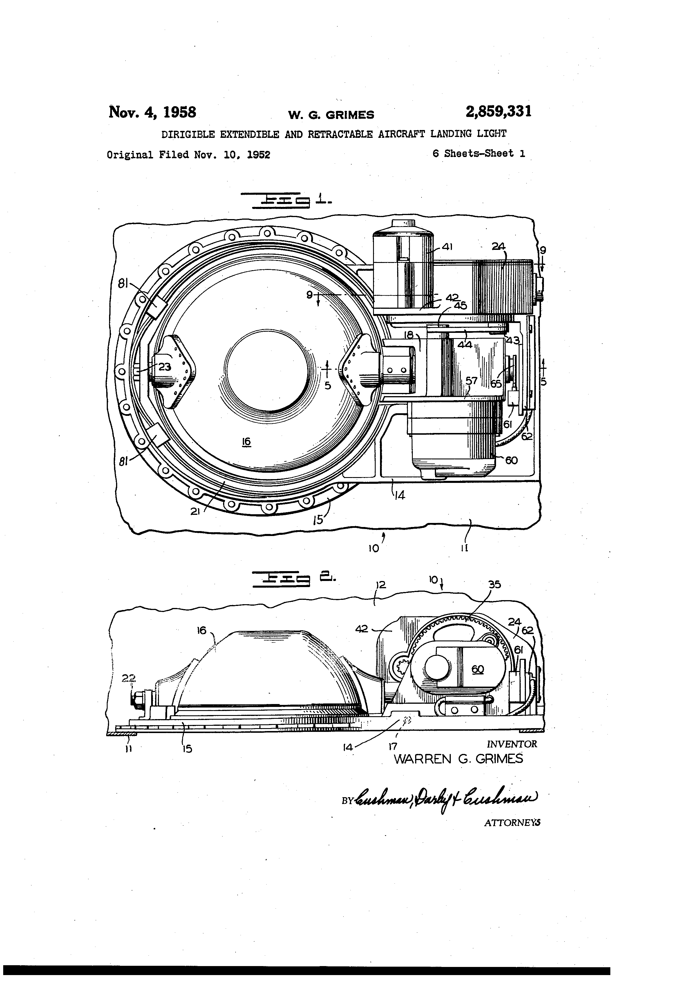 Wiring Diagram Landing Light : Patent us dirigible extendible and retractable