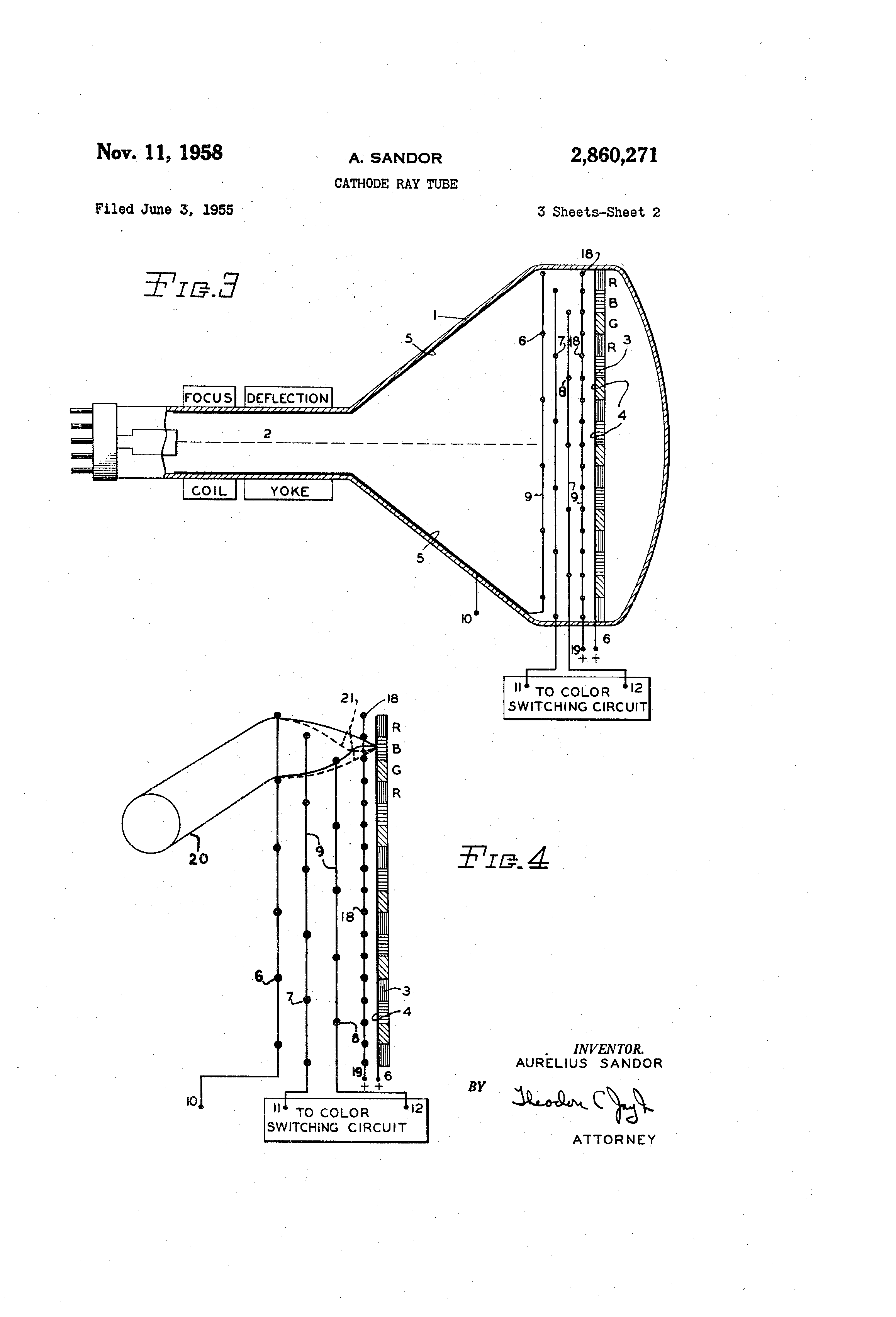 Patent Us2860271 Cathode Ray Tube Google Patents Diagram Drawing