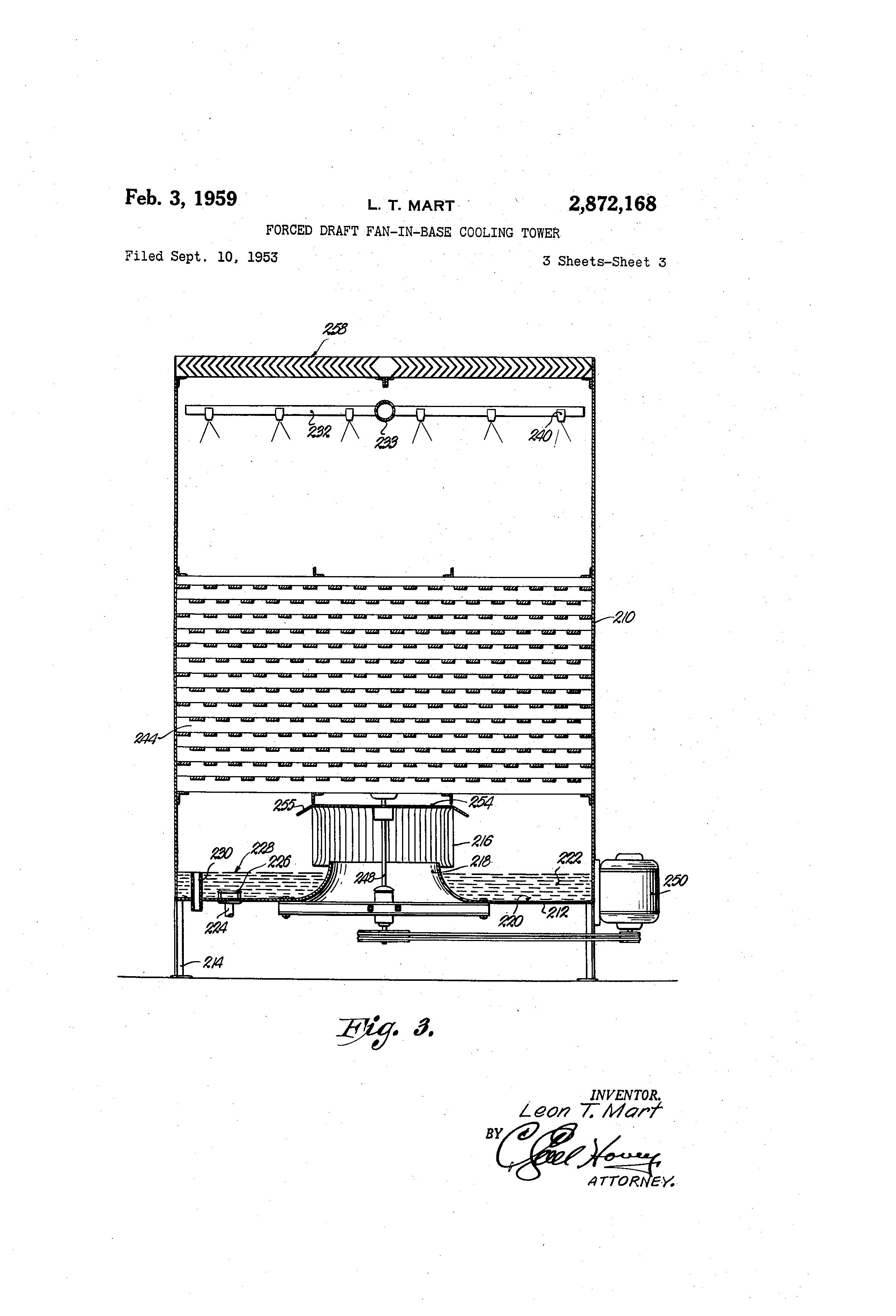 Forced Draft Fan : Patent us forced draft fan in base cooling tower
