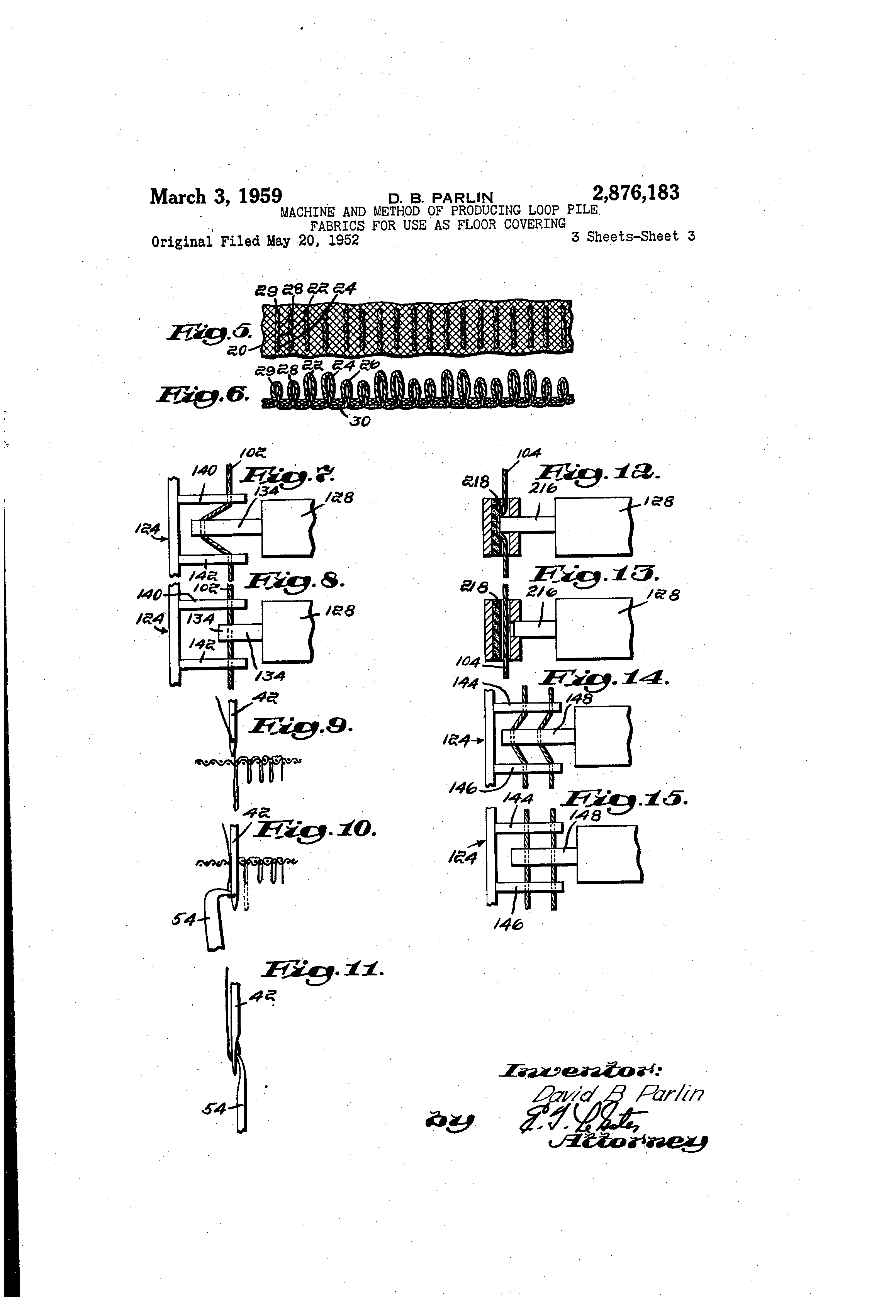 Patent Us2876183 Machine And Method Of Producing Loop Pile Fabrics 130 Looper 96 Wiring Diagram Drawing