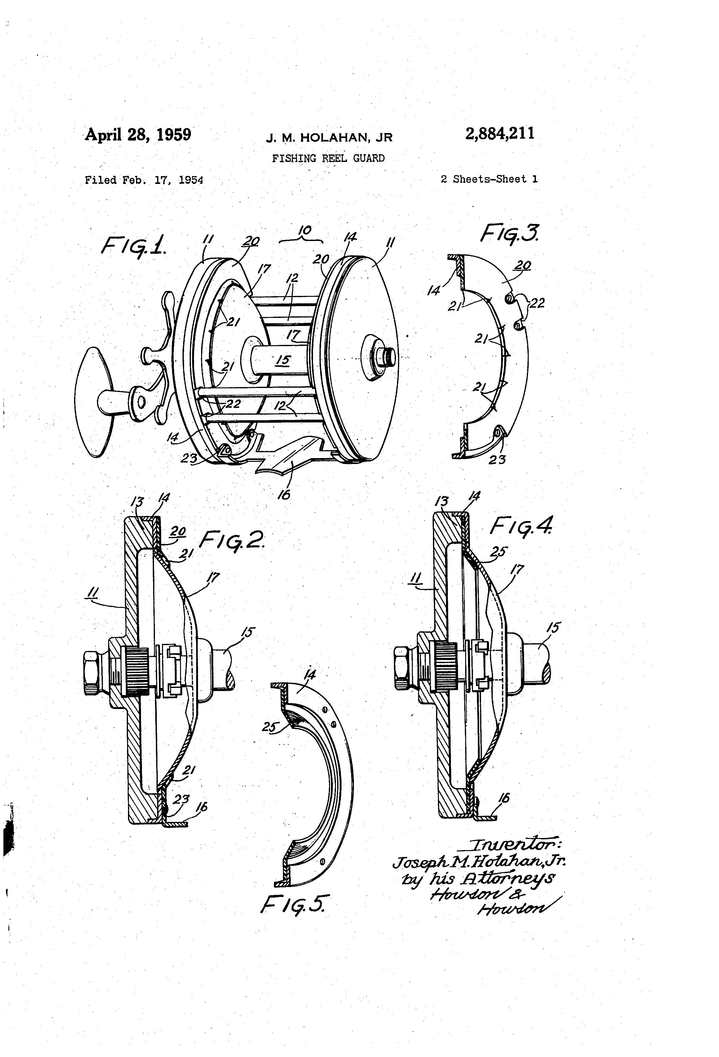 Patent Us2884211 Fishing Reel Guard Google Patents