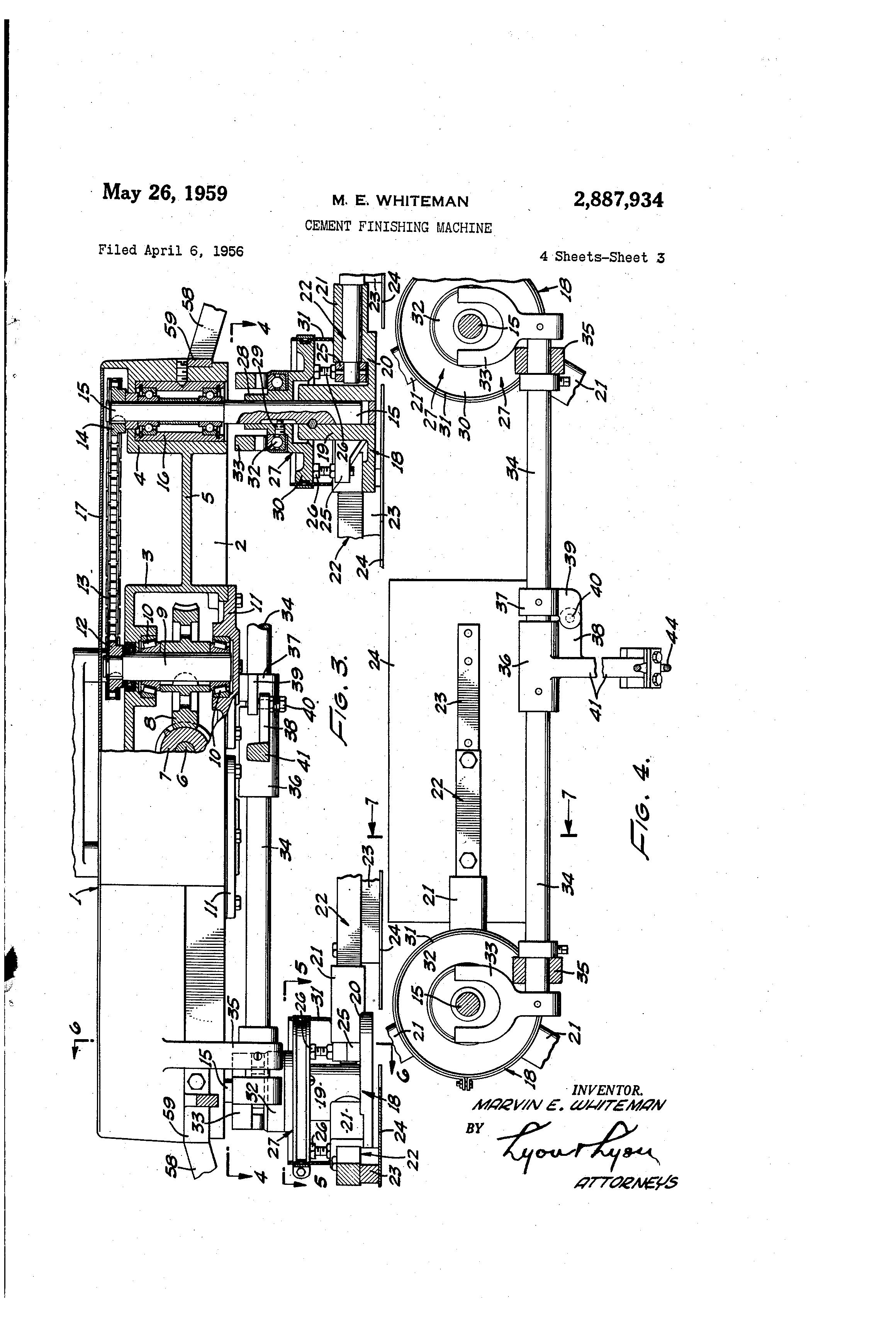 cement finishing machine