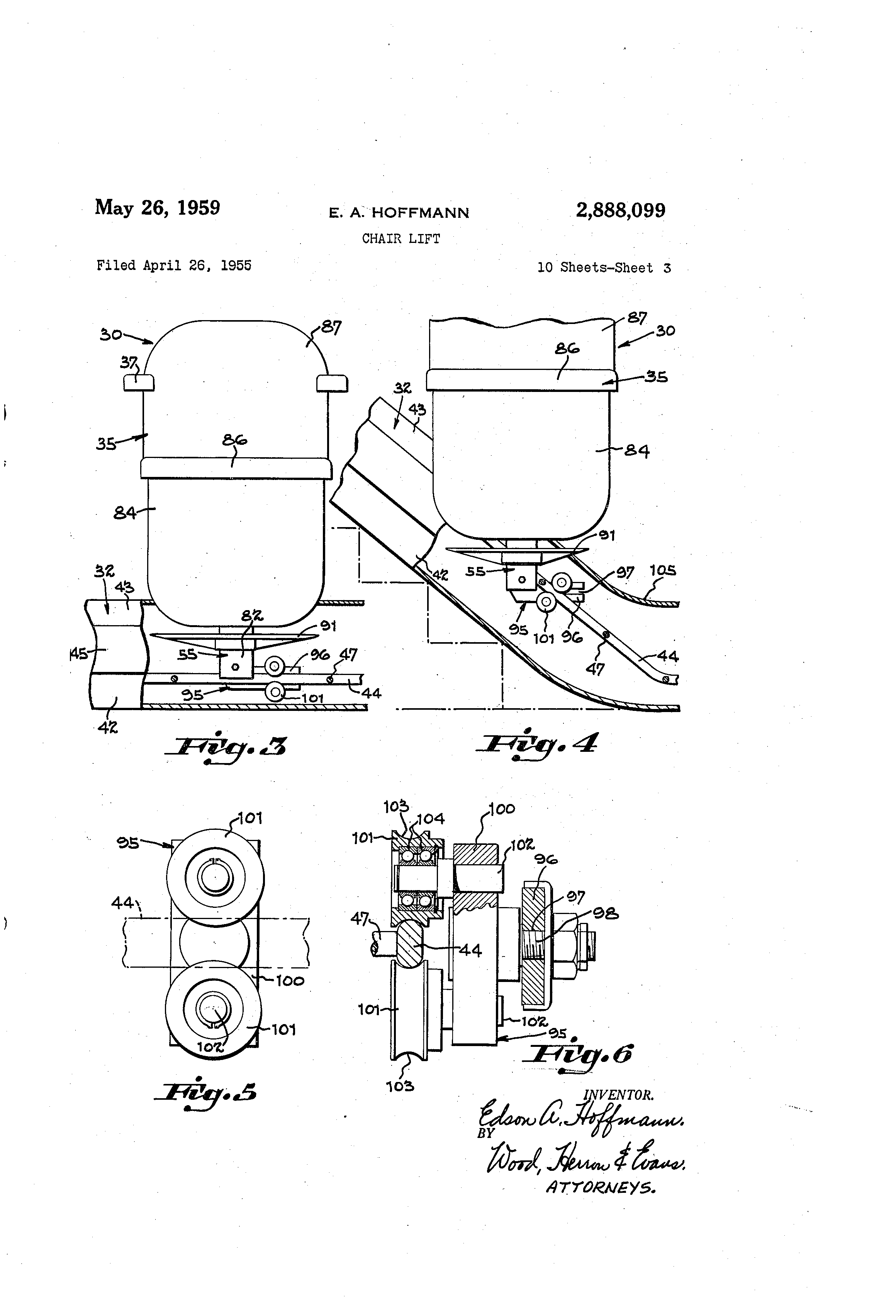 Patent Us2888099 - Chair Lift