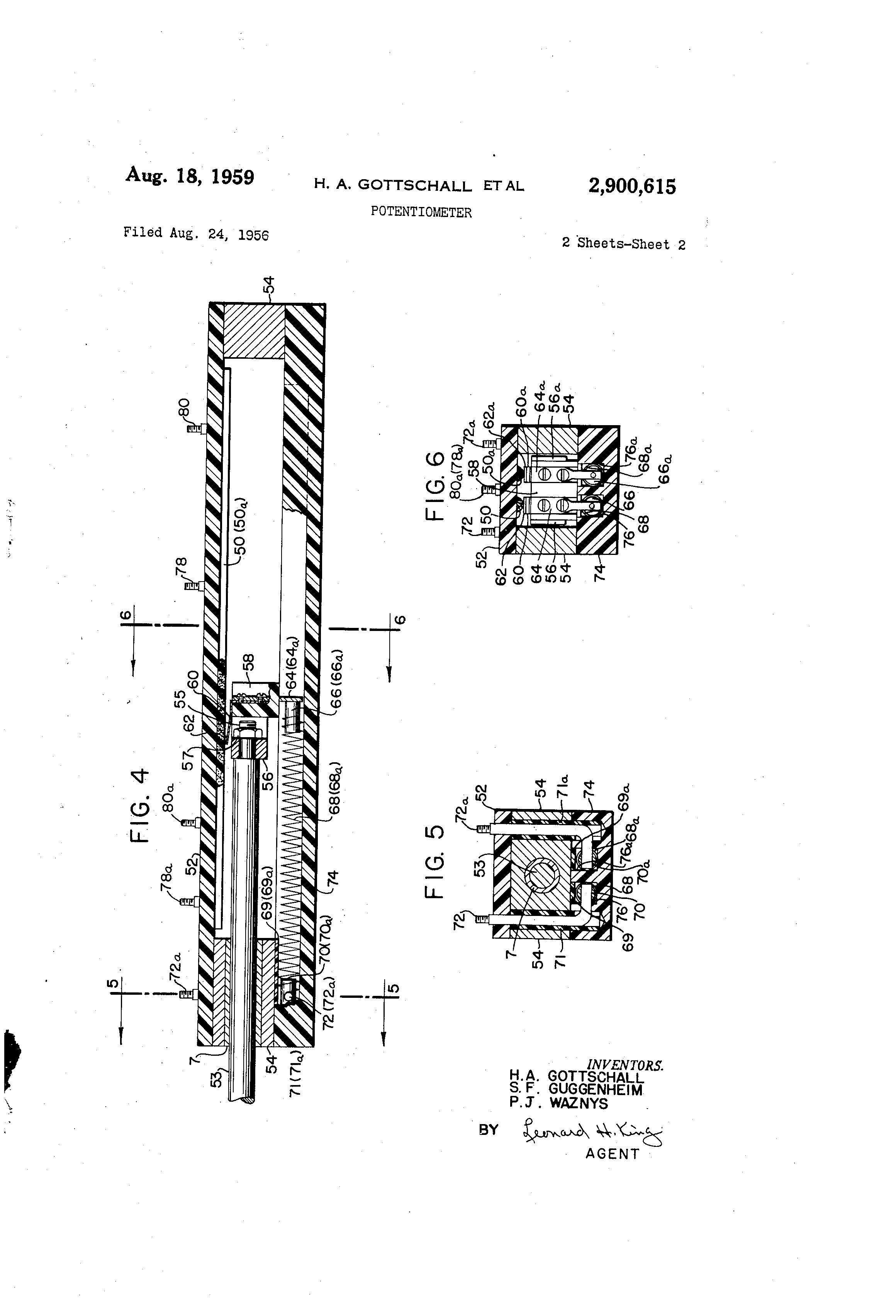 Patent Us2900615 Potentiometer Google Patents Clarostat Wiring Drawing