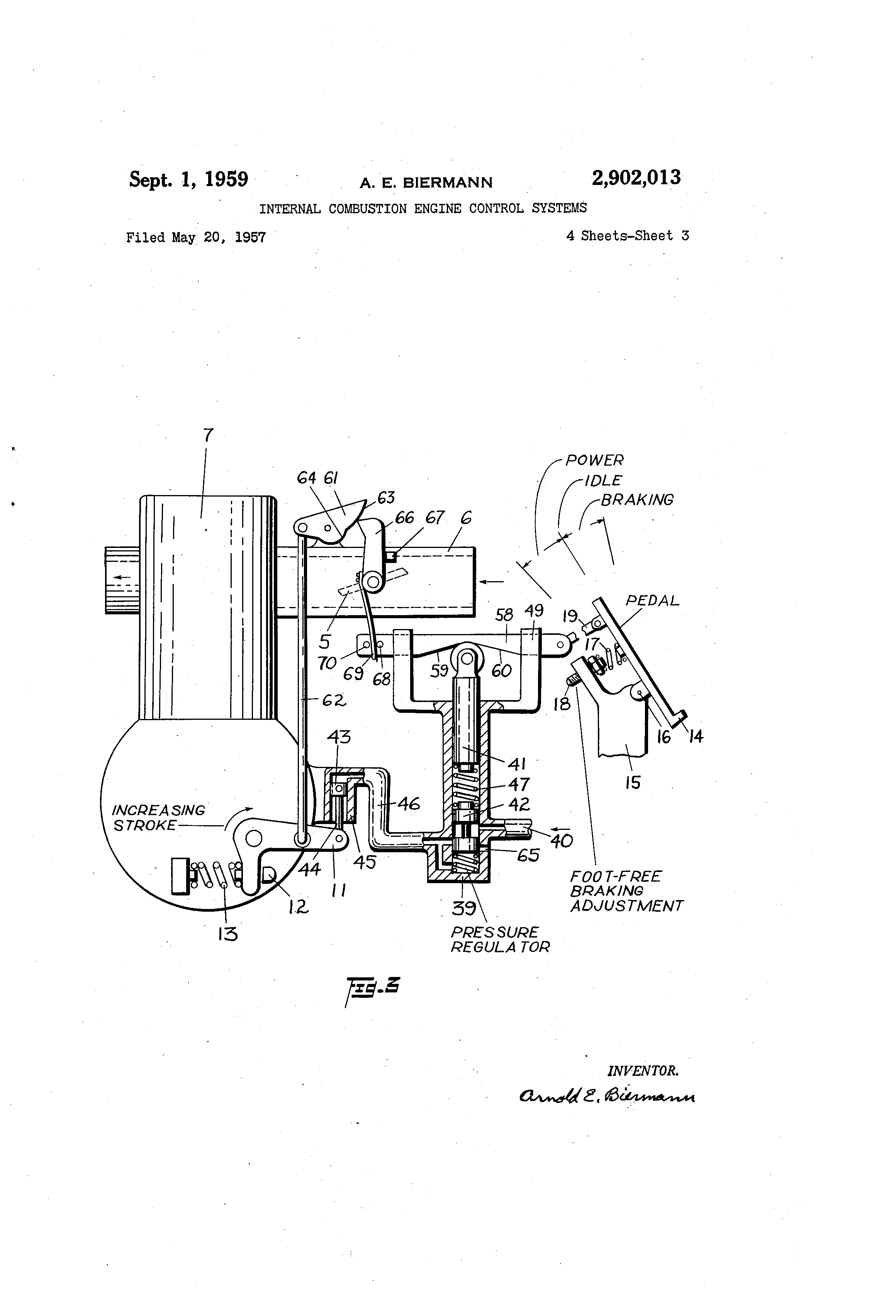 patent us2902013 - internal combustion engine control systems