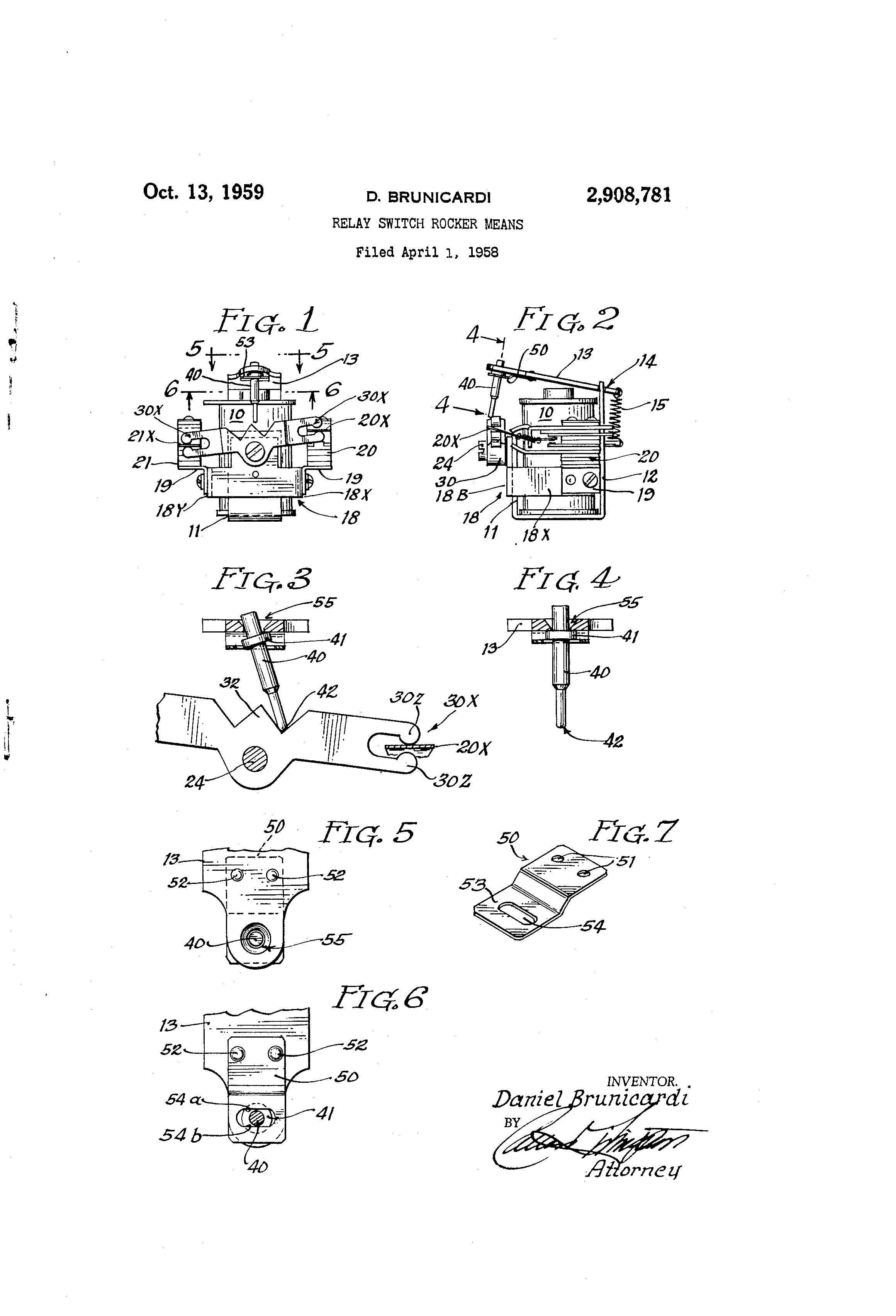 Patent Us2908781 Relay Switch Rocker Means Google Patents Drawing