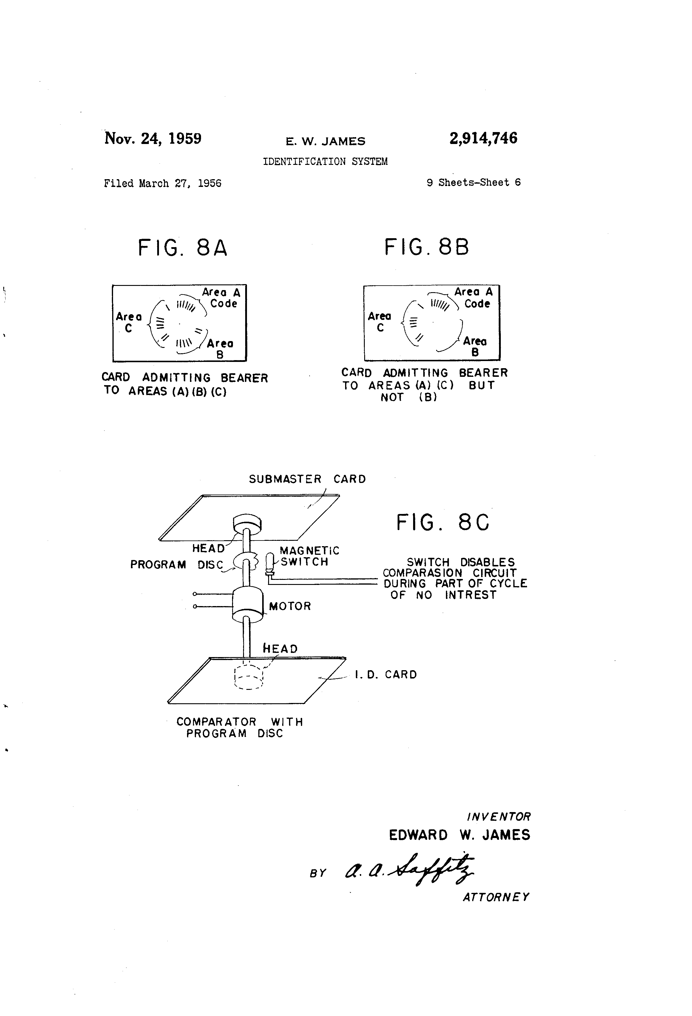 Patent US2914746 Identification system Google Patents