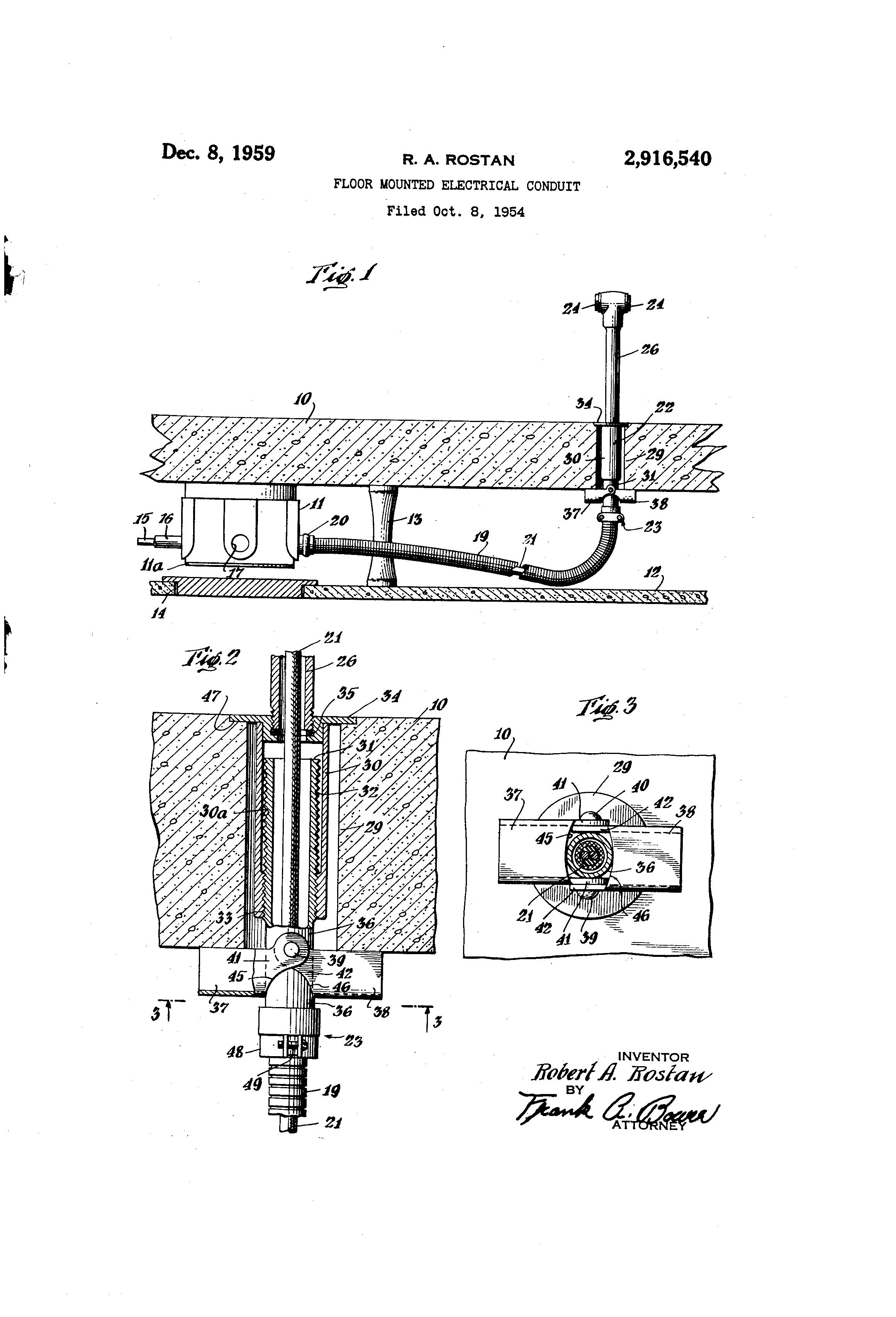 patent us2916540