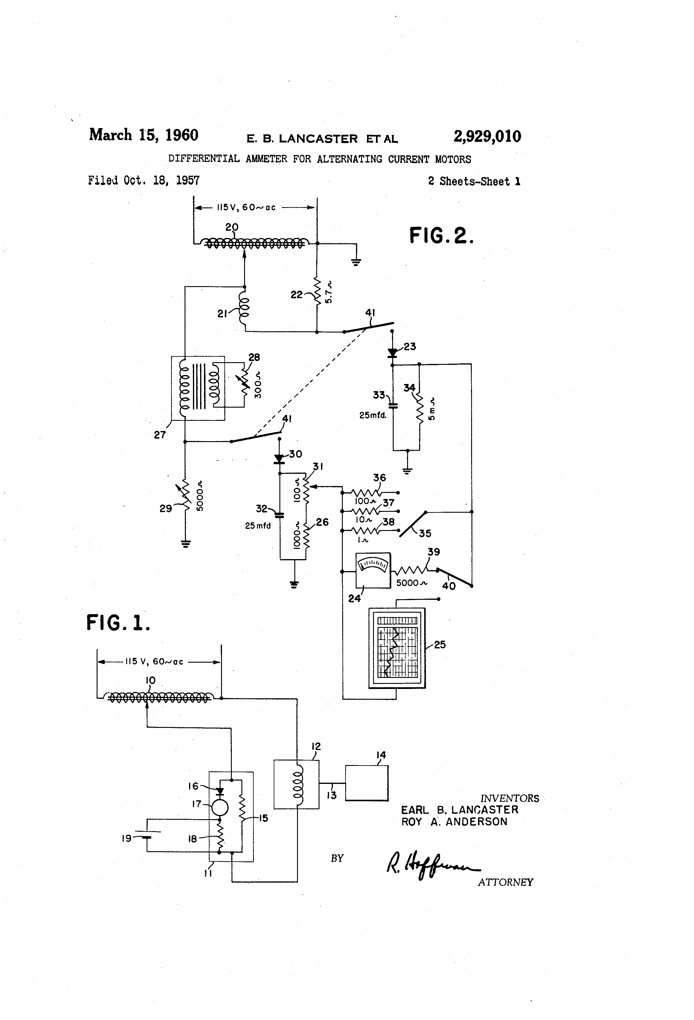 Patent Us2929010 Differential Ammeter For Alternating Current Diagram Drawing