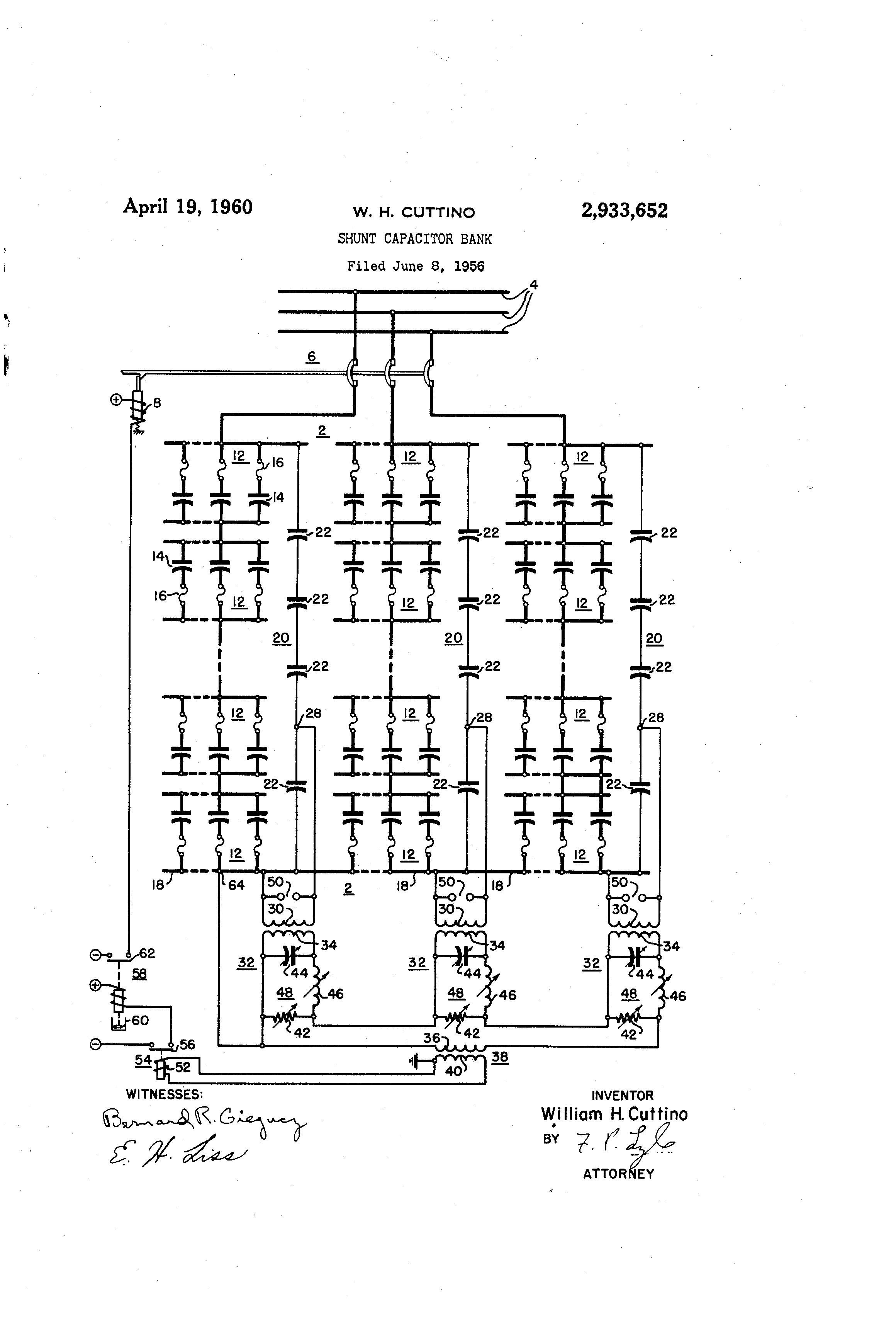 patent us2933652 - shunt capacitor bank