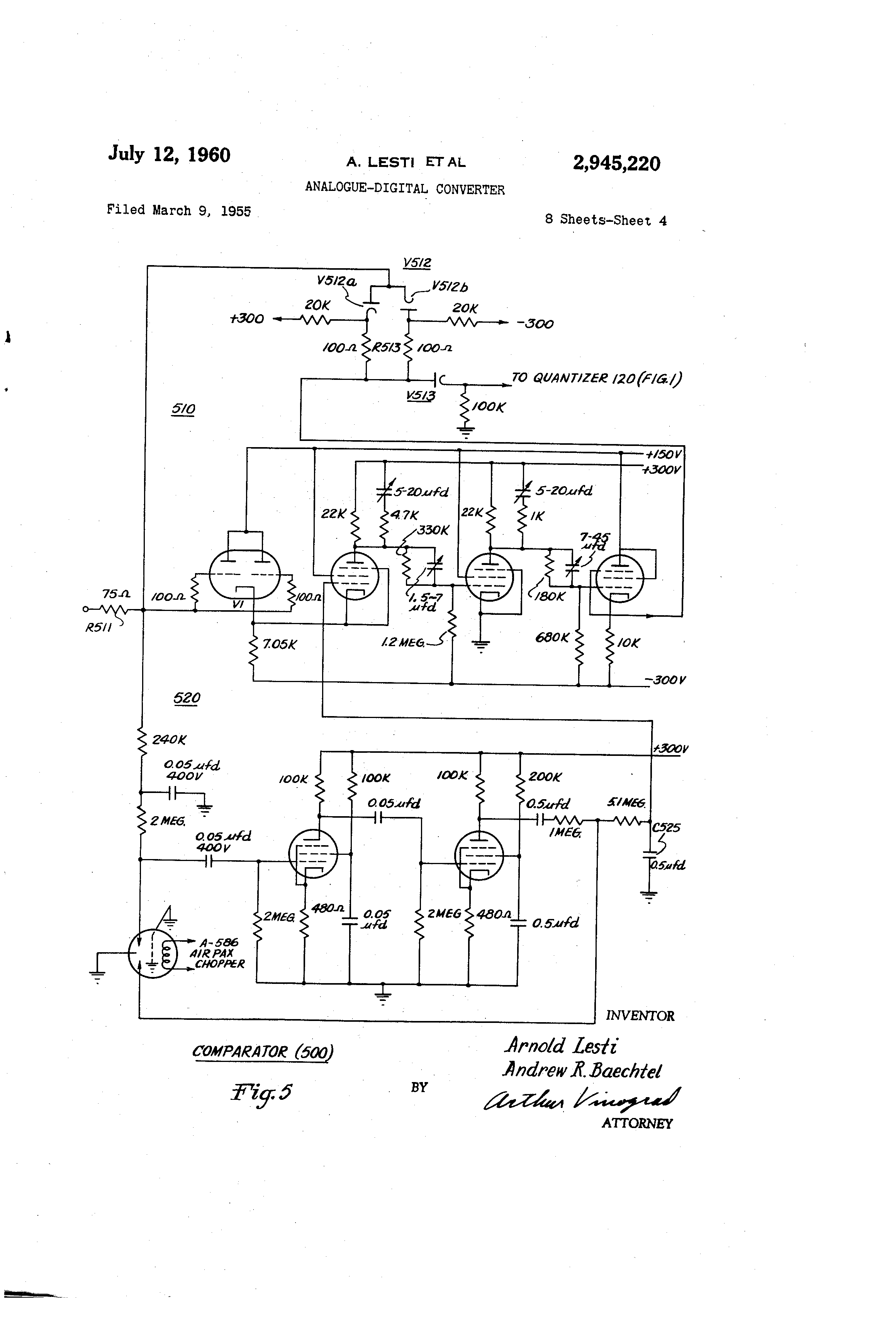 patent us2945220 - analogue-digital converter