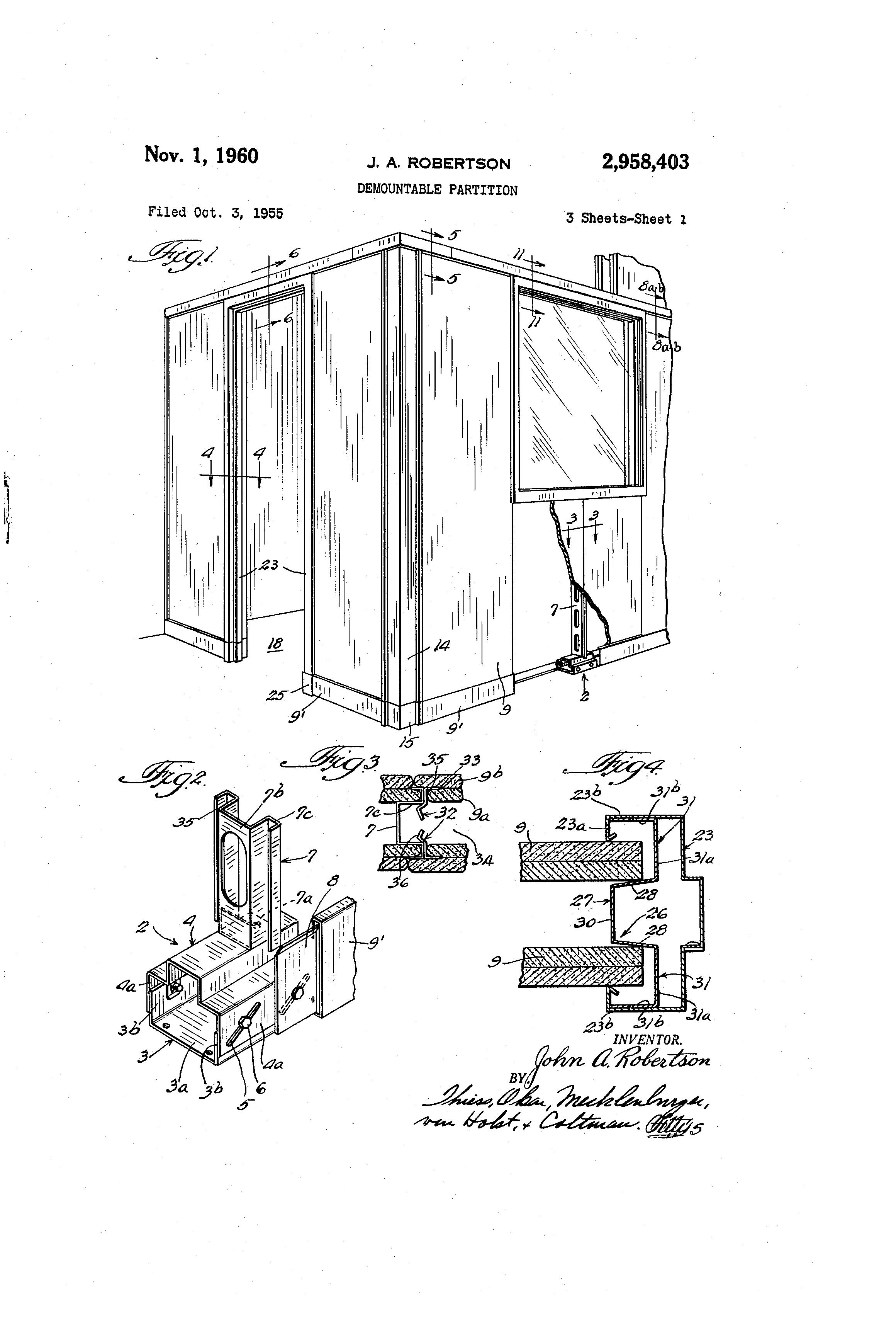 Demountable Partition Detail : Patent us demountable partition google patents