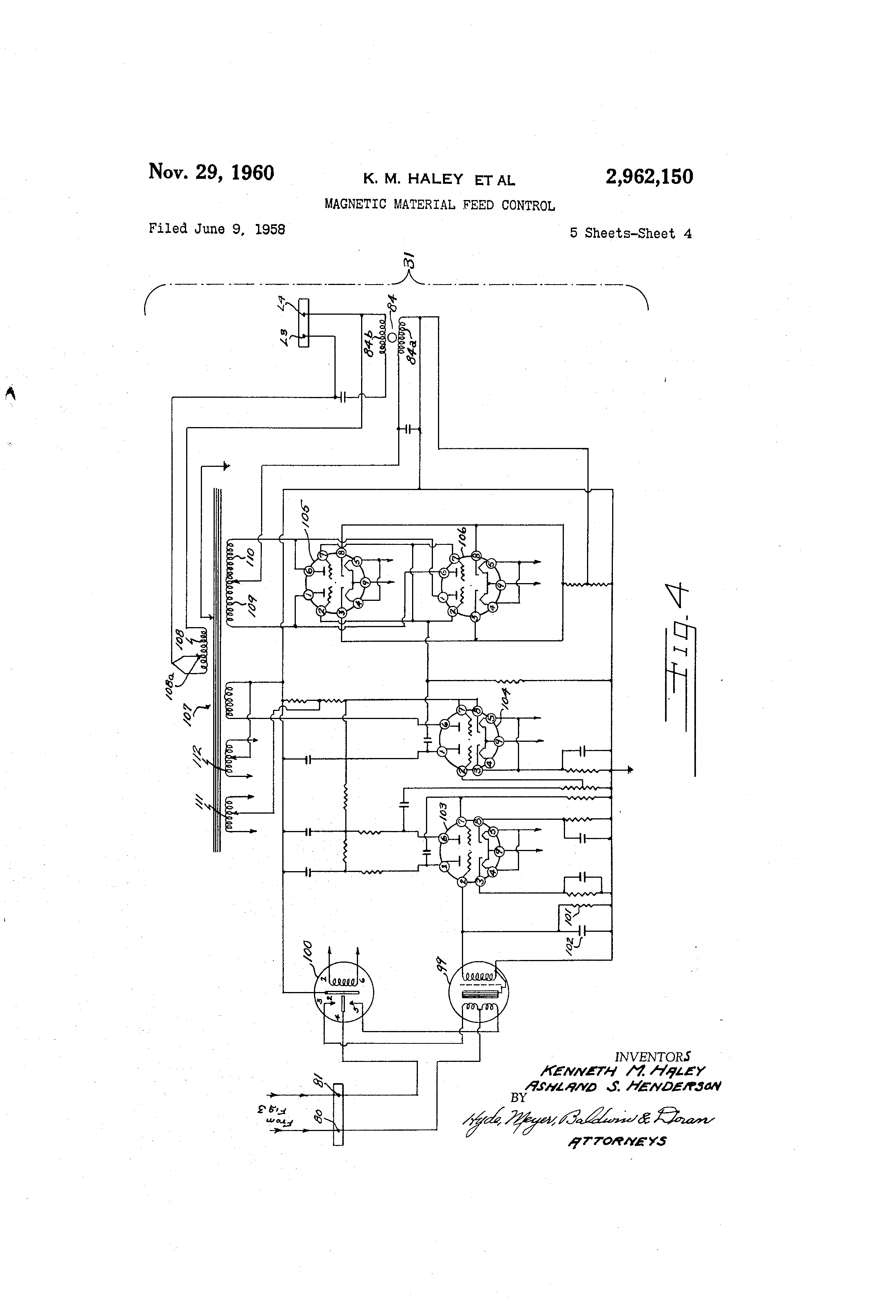 Patent Us2962150 Magnetic Material Feed Control Google Patents Modutrol Motor Wiring Diagram Drawing