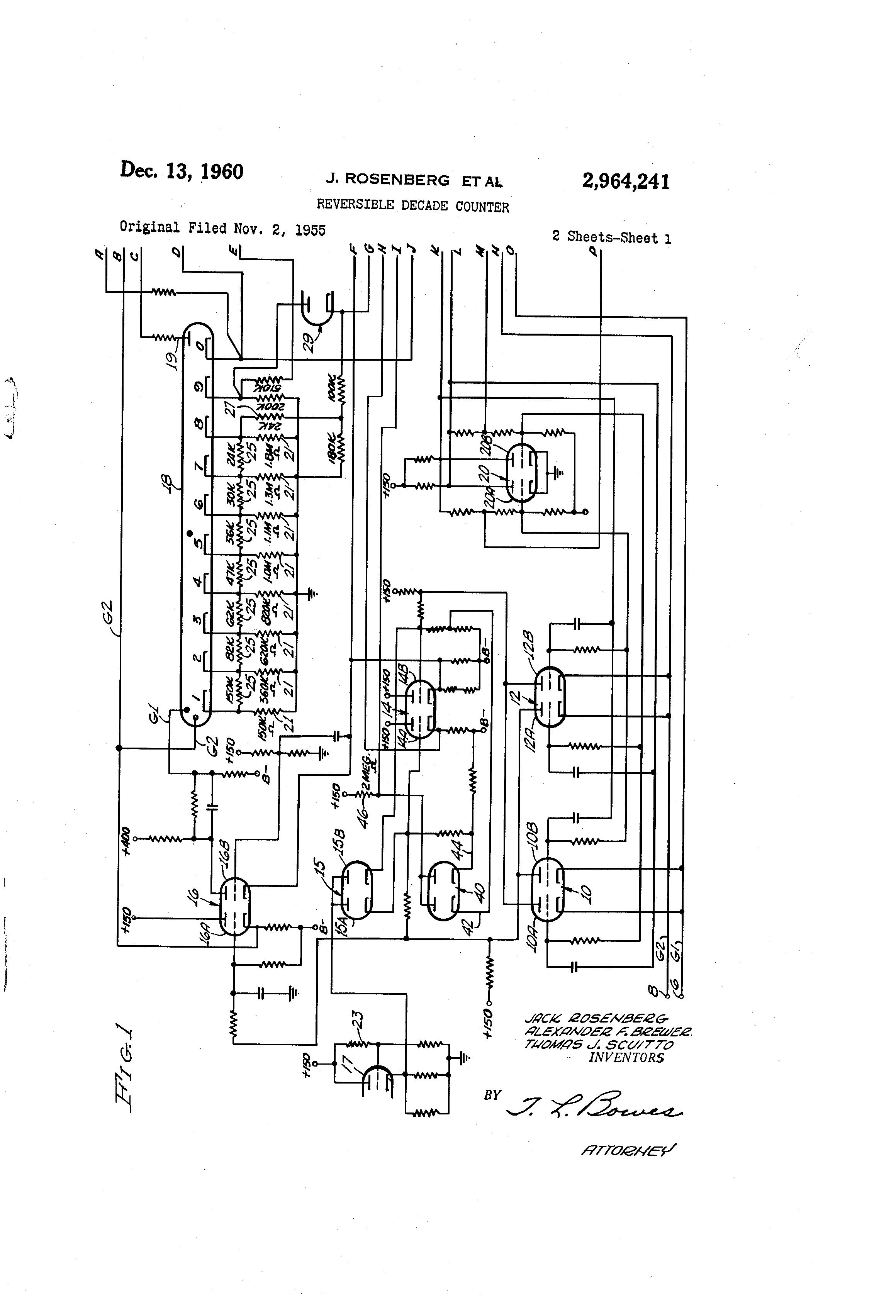 Patent Us2964241 Reversible Decade Counter Google Patents Circuit Diagram Drawing