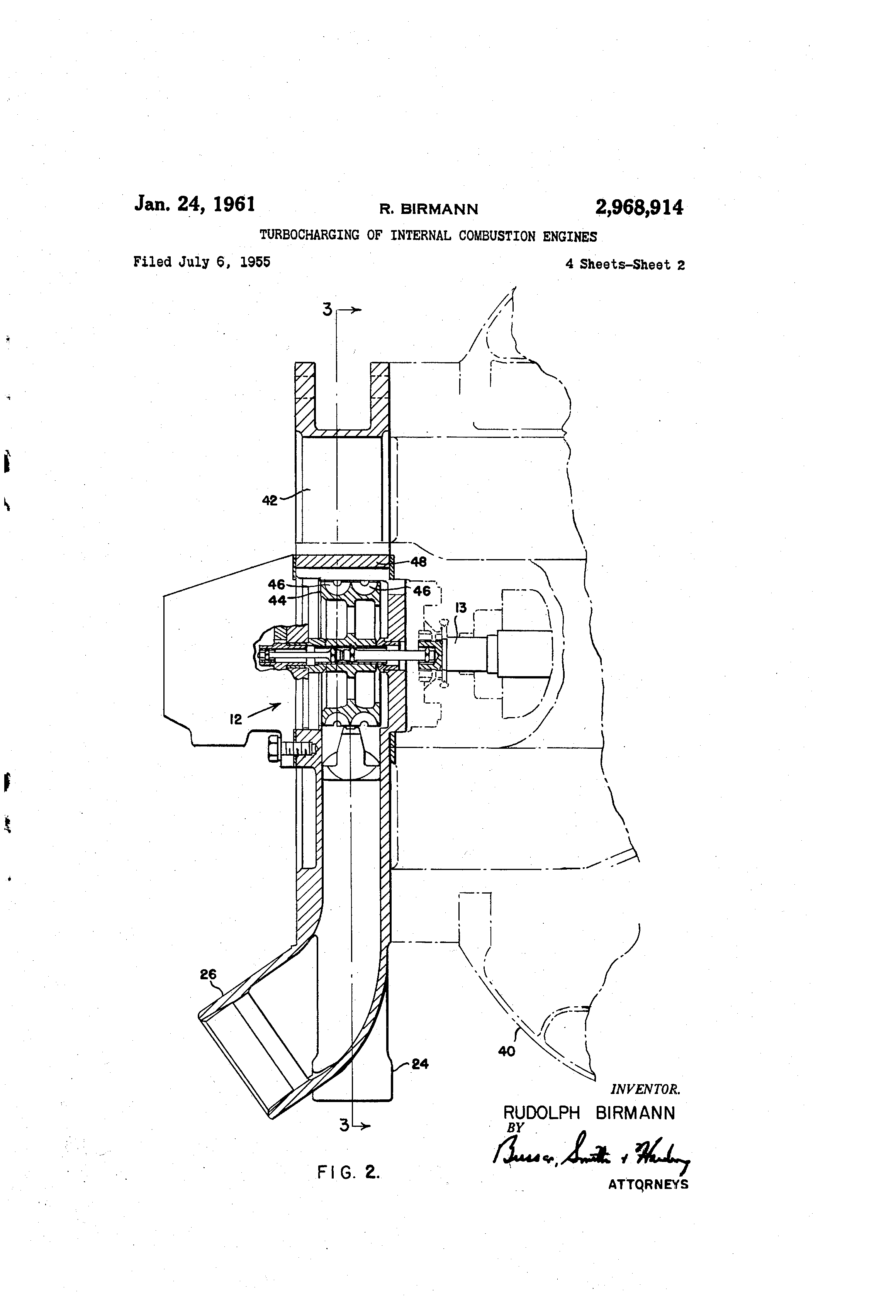 Patent Us2968914 Turbocharging Of Internal Combustion Engines Wiring Diagram Honda Z50a Drawing