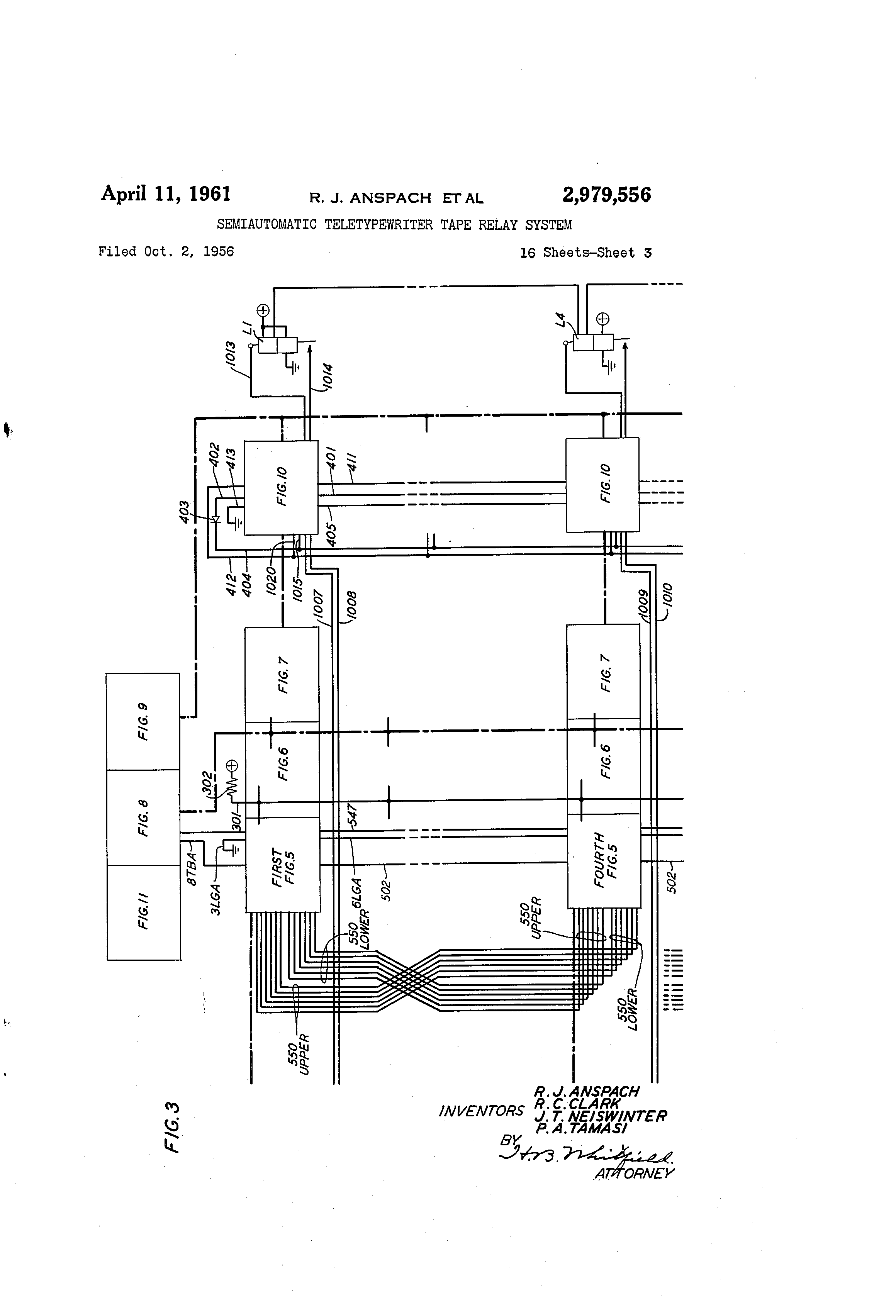 Patent Us2979556 Semiautomatic Teletypewriter Tape Relay System In This Circuit A Nonlocking Push Switch Is Used To Activate Load Drawing