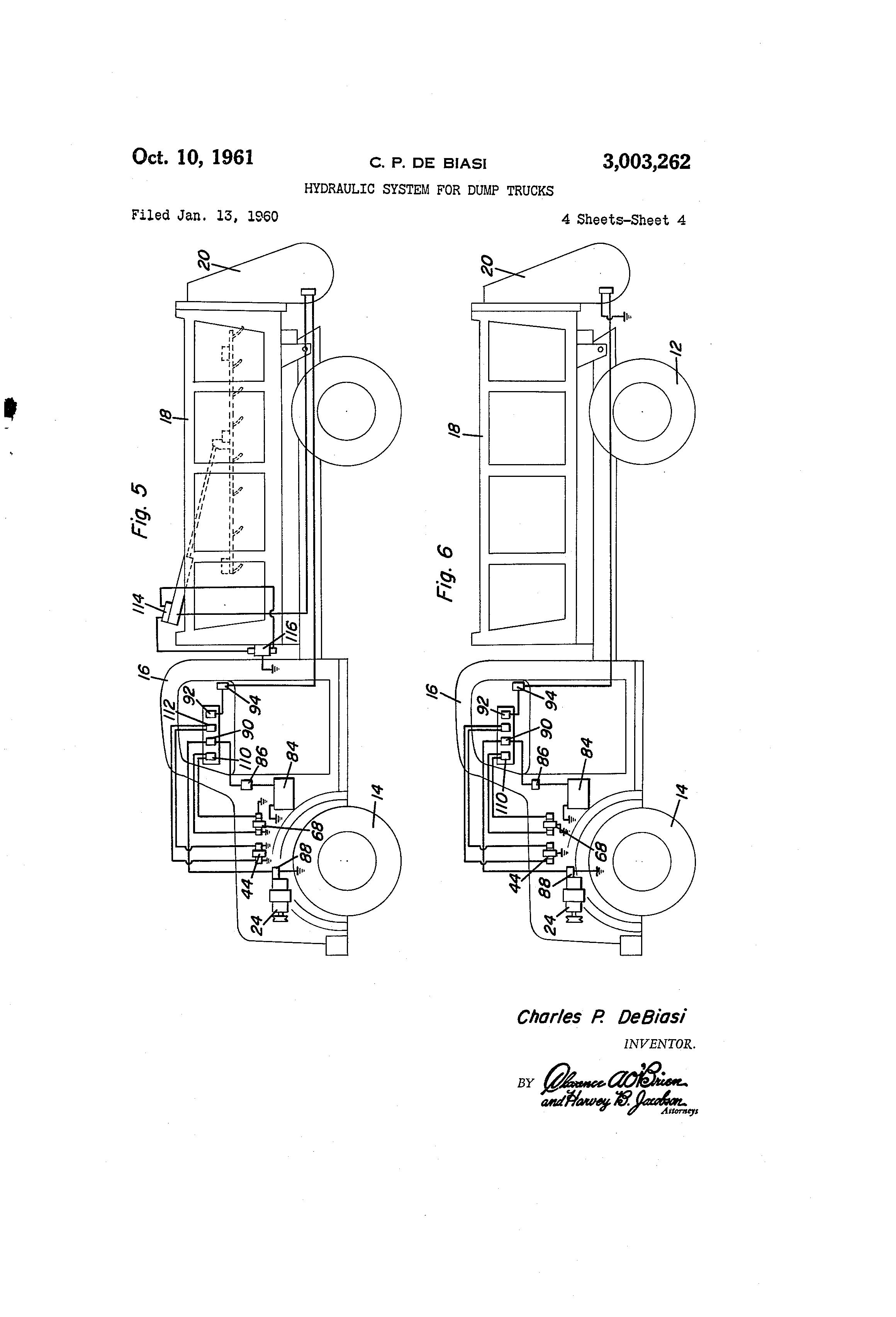 Dump Truck Hydraulic System Diagram