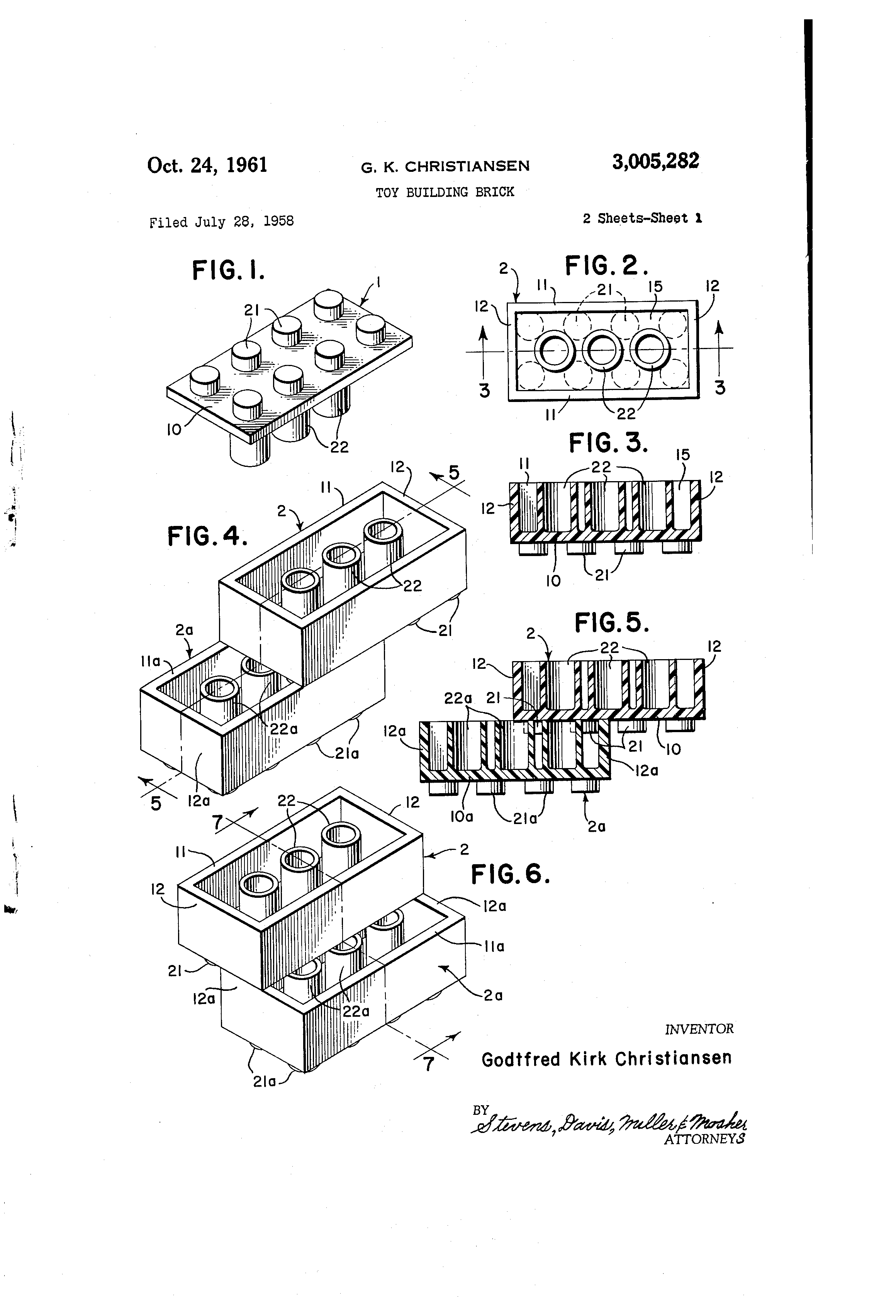 Lego Patent Drawing